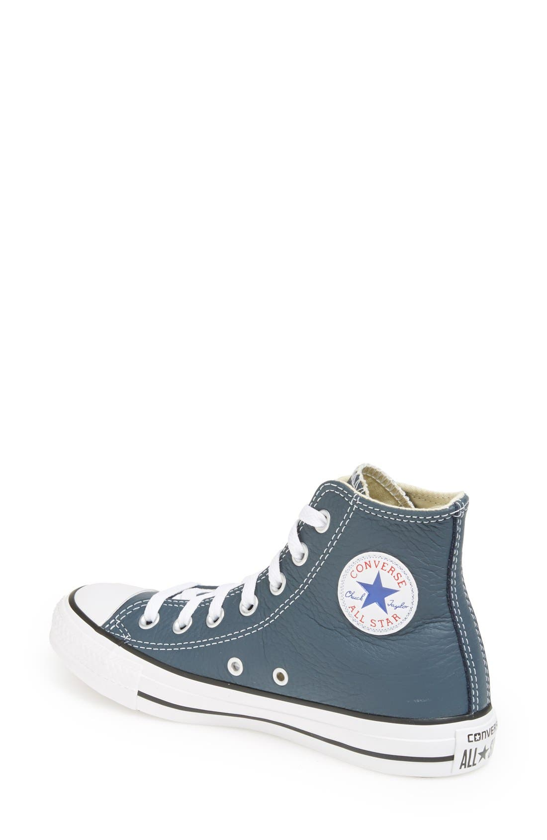 Alternate Image 2  - Converse Chuck Taylor® All Star® High Top Leather Sneaker (Women)