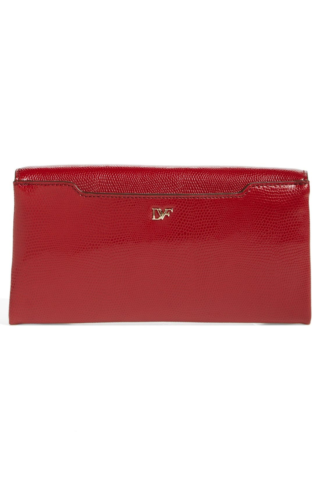 Alternate Image 4  - Diane von Furstenberg '440' Embossed Leather Envelope Clutch