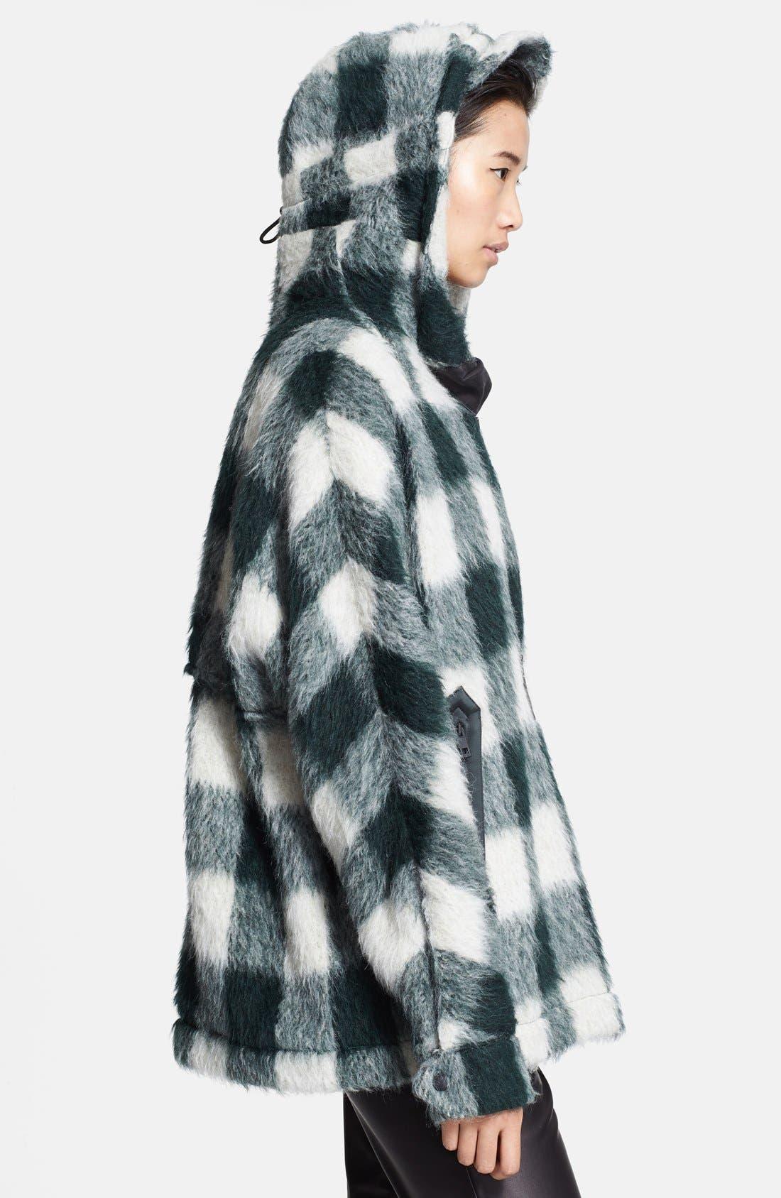 Alternate Image 3  - rag & bone 'Falkland' Hooded Mohair Check Parka