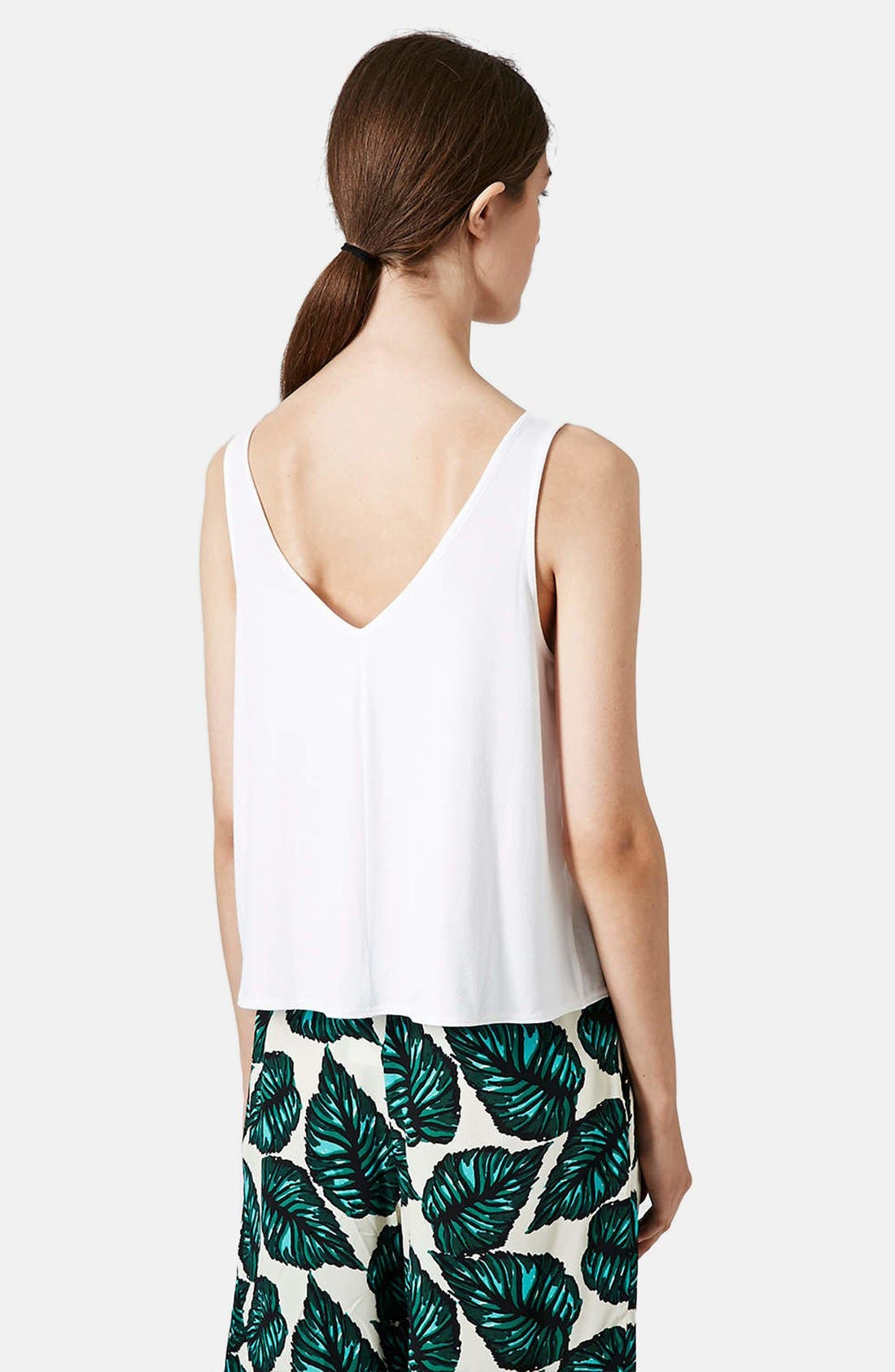 Alternate Image 2  - Topshop Crepe Swing Tank
