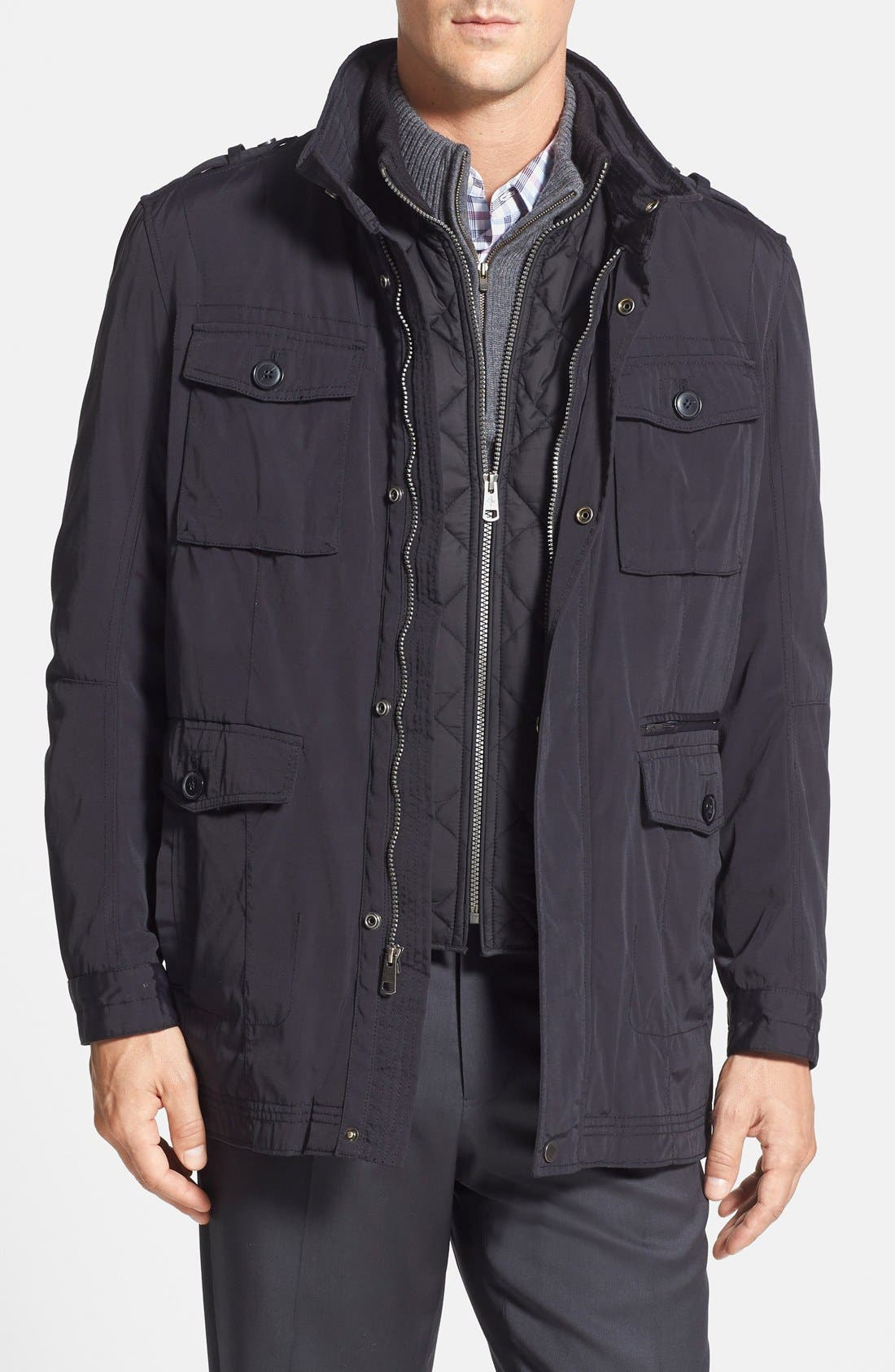 Alternate Image 1 Selected - Cole Haan 'Oxford Utility' Two-in-One Jacket