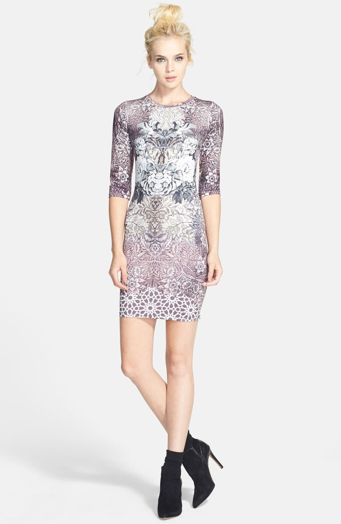 Main Image - Topshop Print Body-Con Minidress (Nordstrom Exclusive)