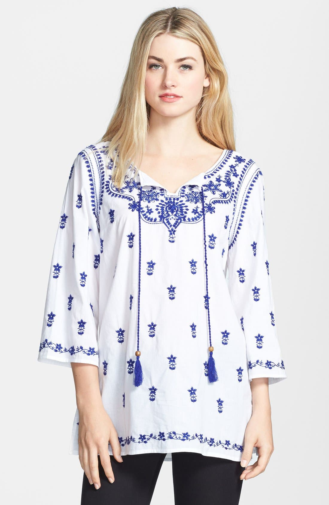 Alternate Image 1 Selected - ECI Embroidered Peasant Tunic