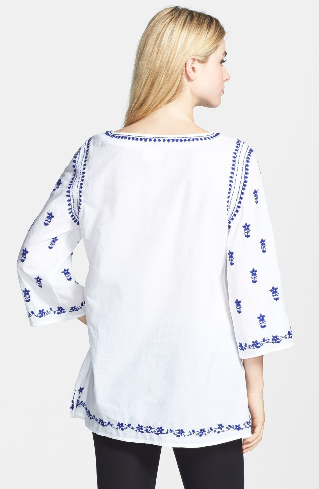 Alternate Image 2  - ECI Embroidered Peasant Tunic