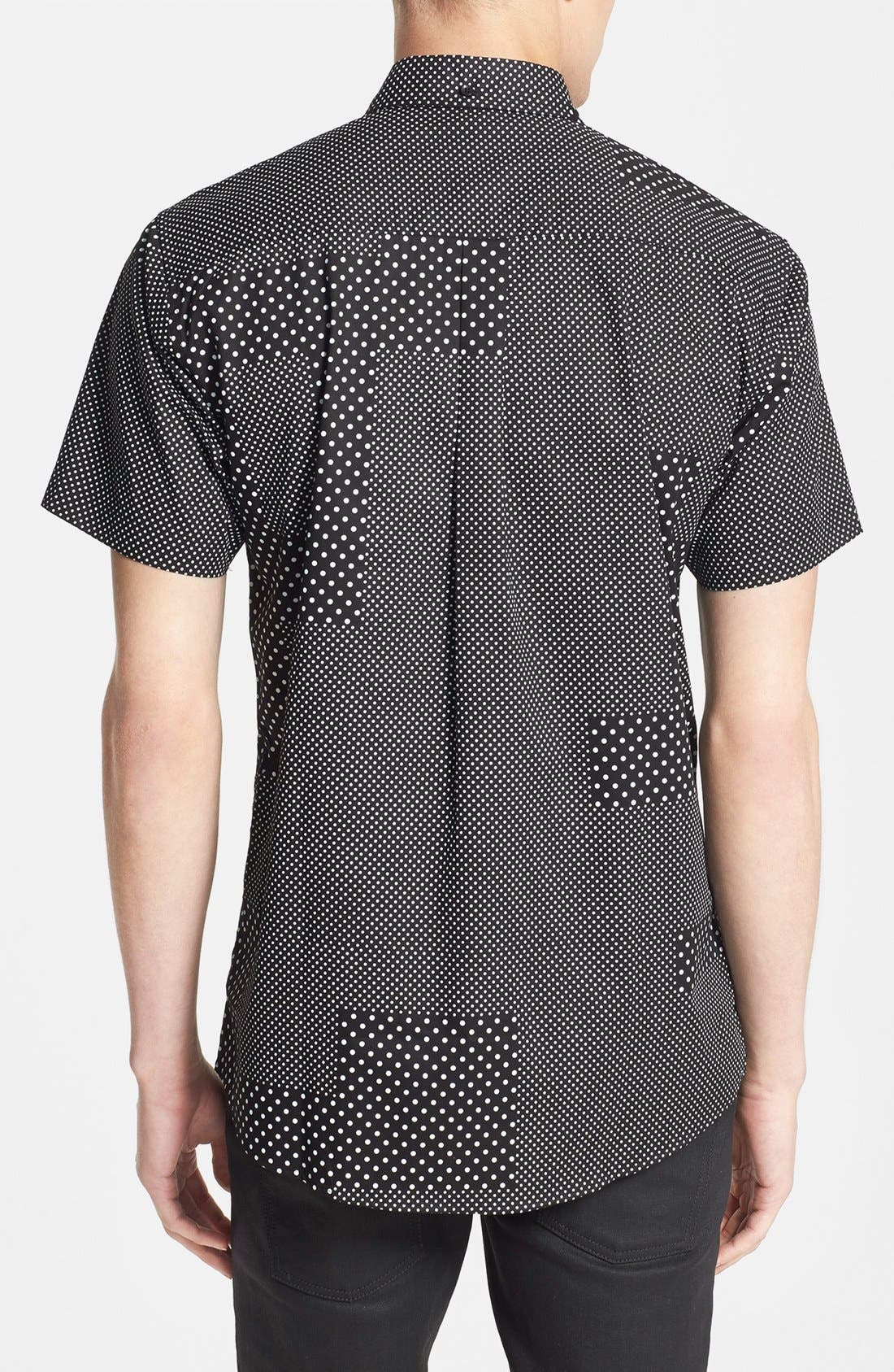 Alternate Image 2  - PUBLISH BRAND 'Elias' Short Sleeve Dot Print Poplin Shirt
