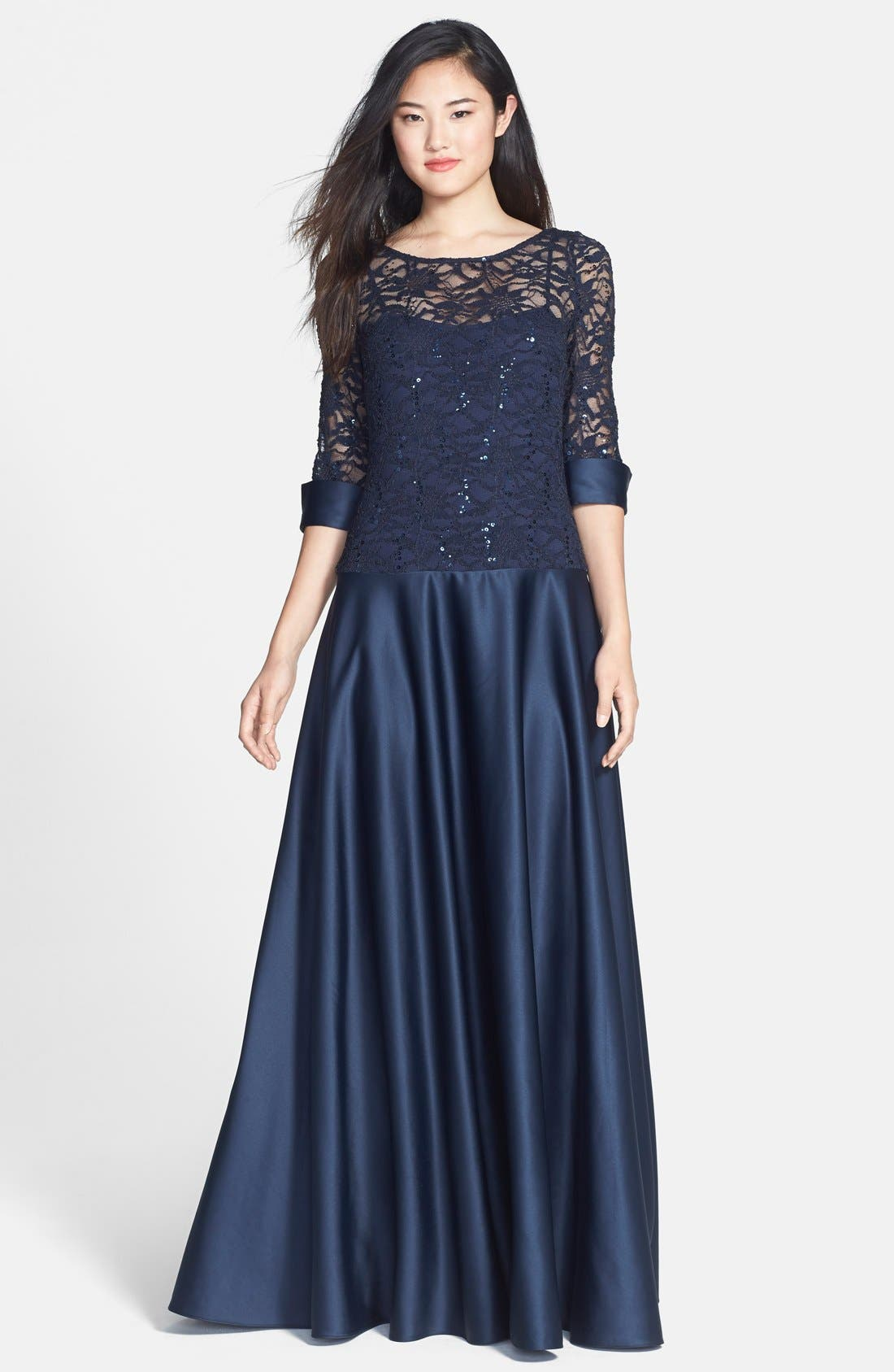 Alternate Image 1 Selected - JS Collections Embellished A-Line Gown