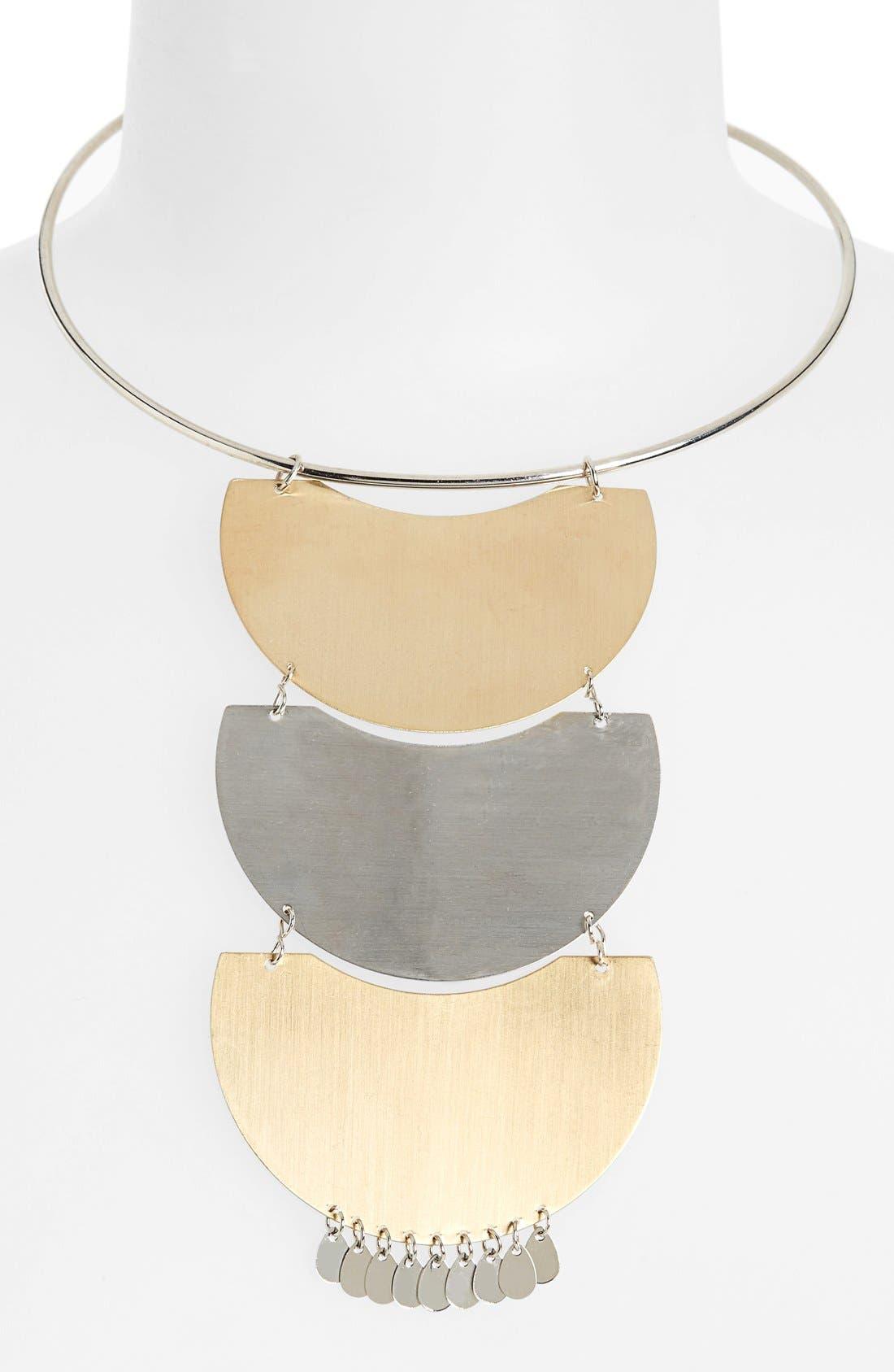 Main Image - Topshop Tiered Bib Necklace