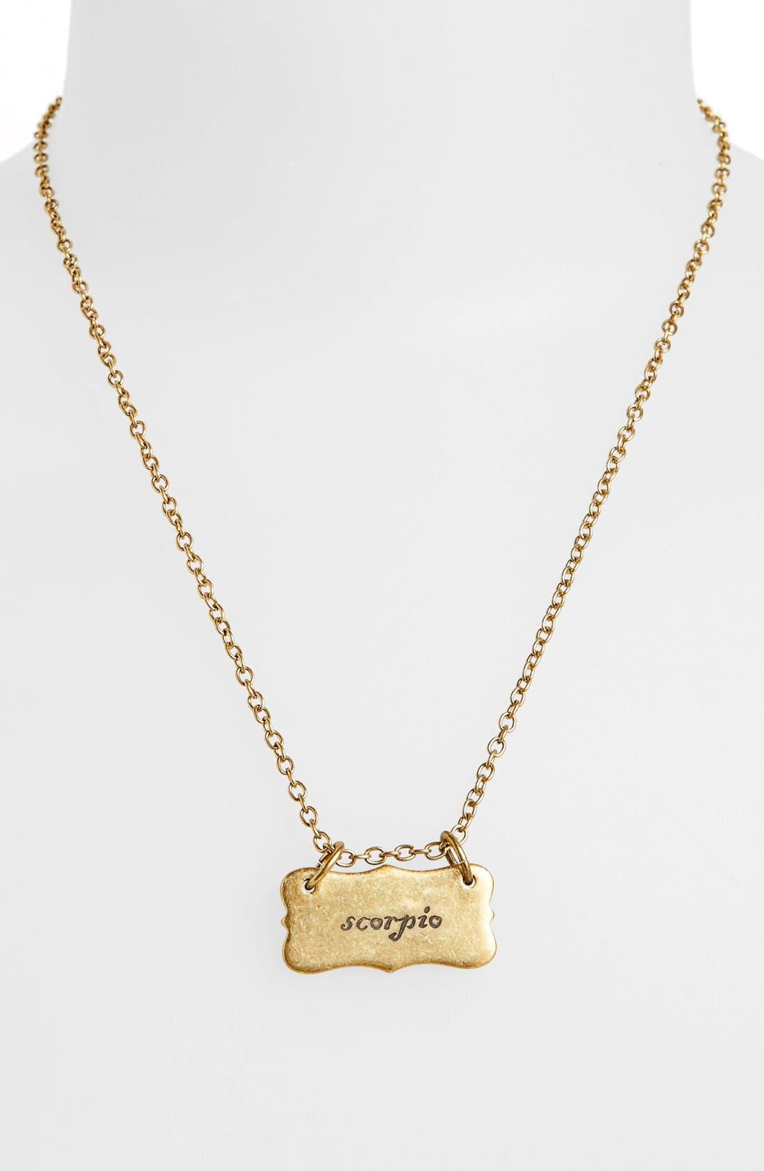 Alternate Image 2  - Berry 'Zodiac - Scorpio' Reversible Pendant Necklace (Goldtone)