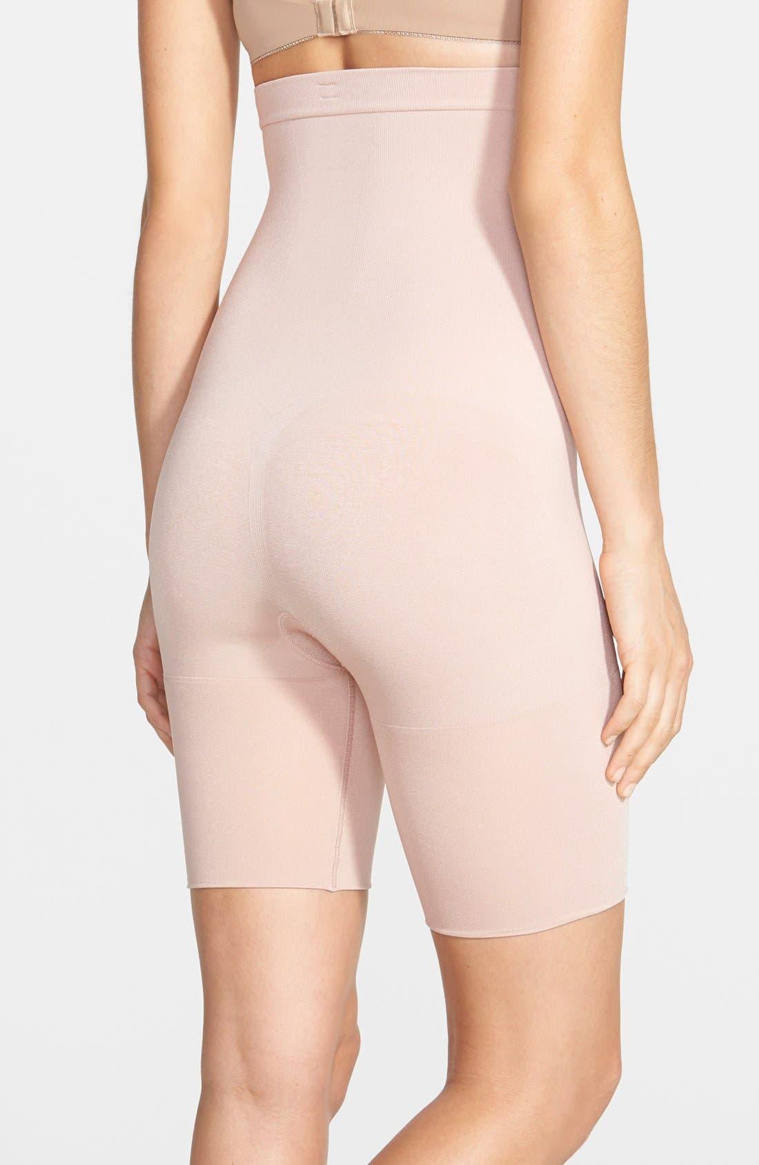 Alternate Image 2  - SPANX® High Waist Mid Thigh Shaper