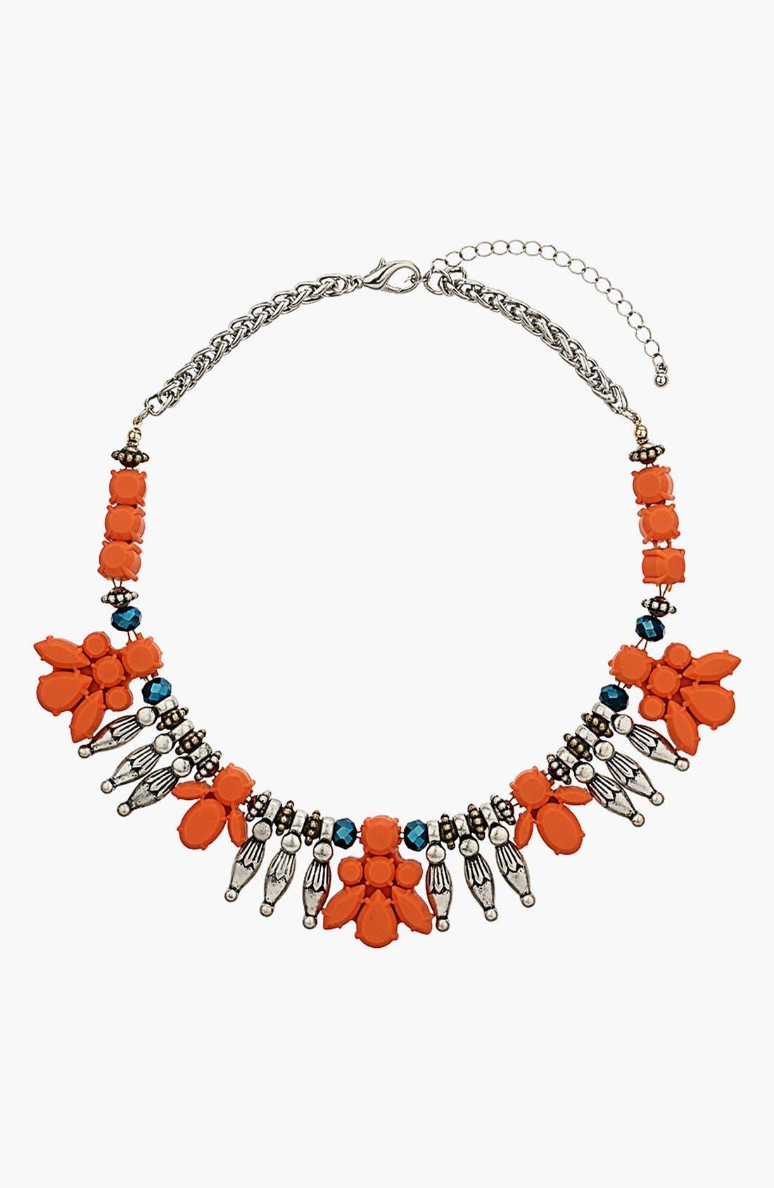 Main Image - Topshop Jelly Petal Collar Necklace