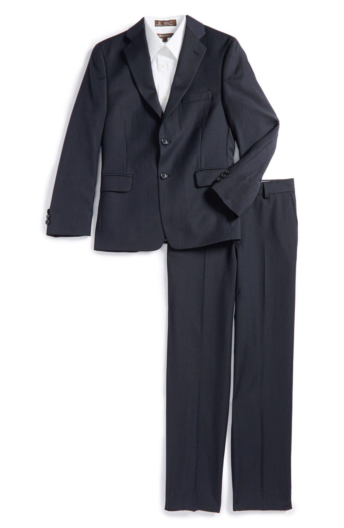 Alternate Image 1 Selected - Nordstrom 'Nathaniel' Stripe Suit (Big Boys)