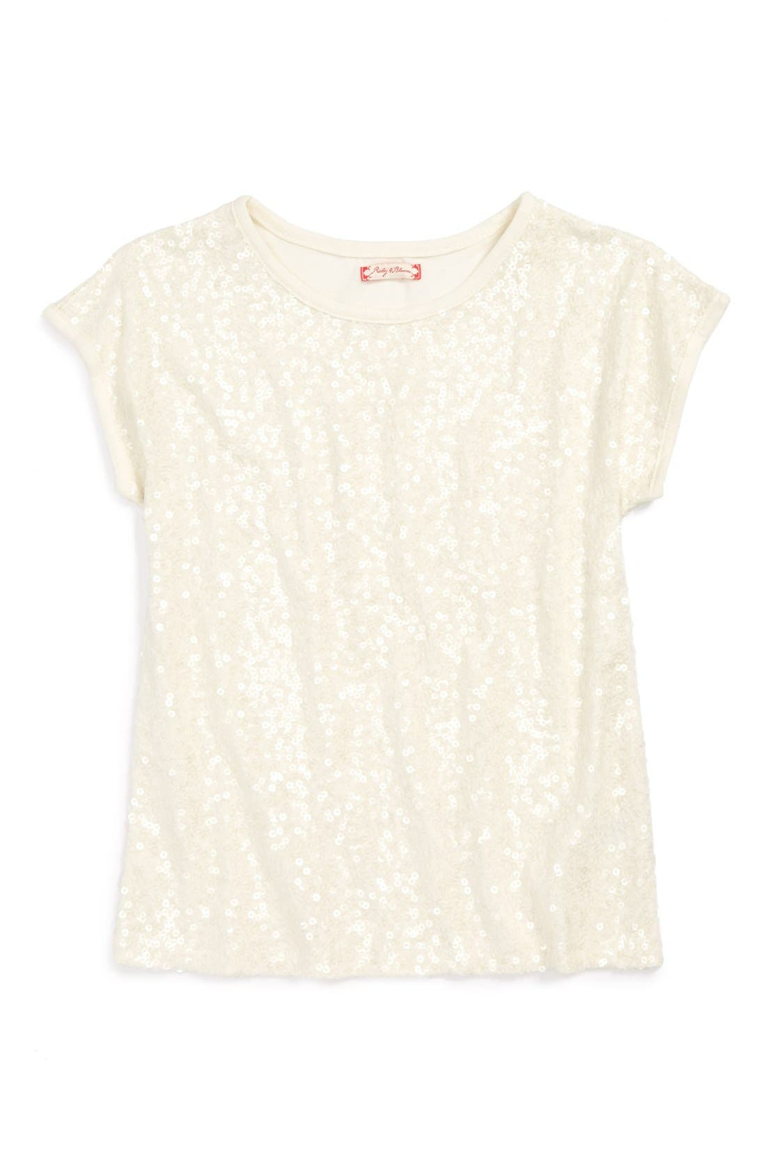 Main Image - Ruby & Bloom 'Naiko' Sparkle Tee (Little Girls & Big Girls)