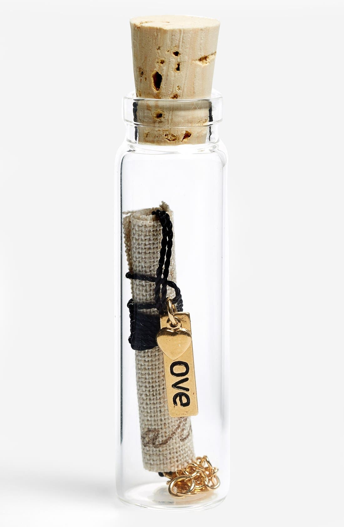 Alternate Image 1 Selected - Blee Inara 'Love & Heart' Message in a Bottle Handmade Necklace