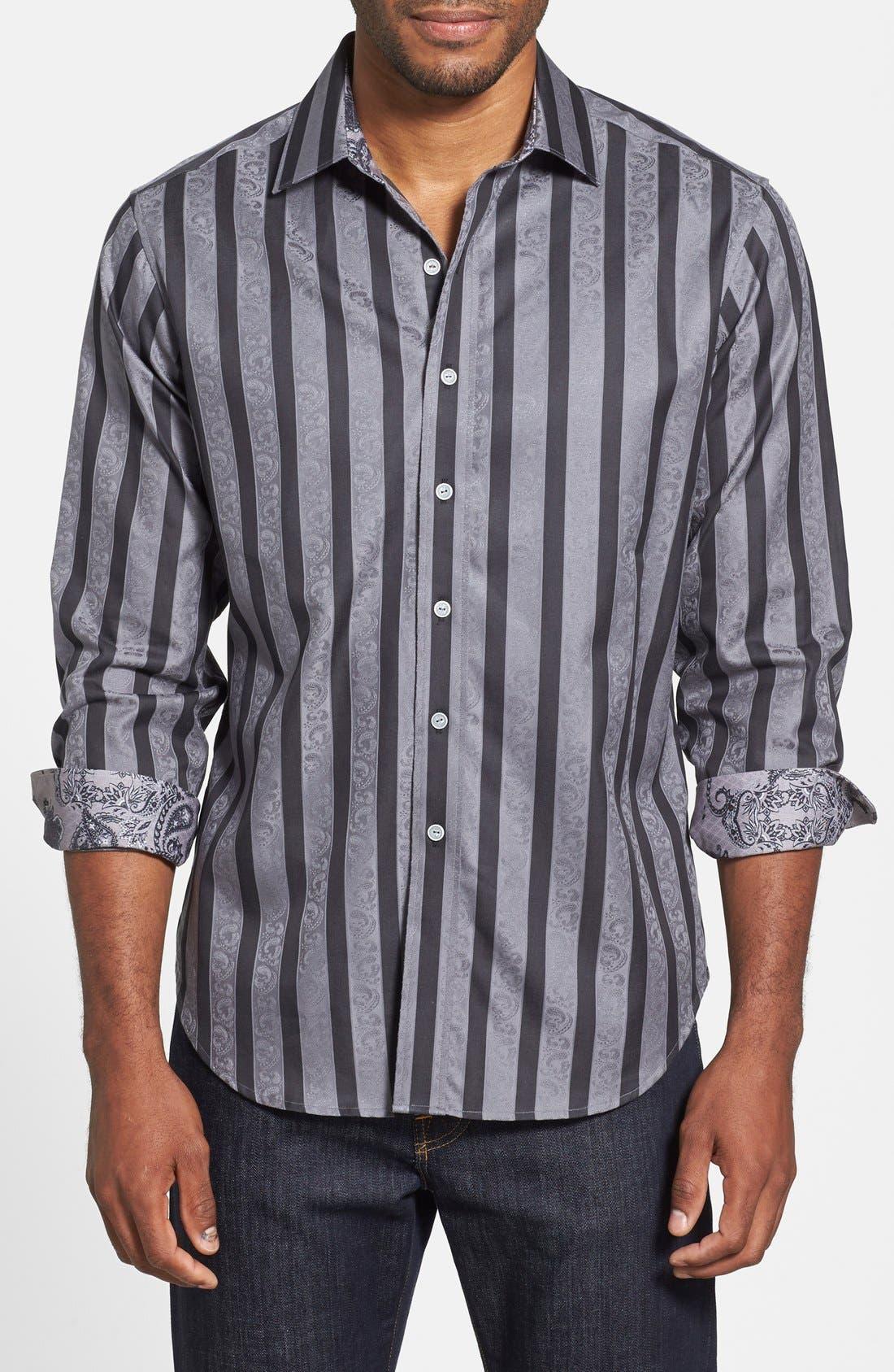 Main Image - Robert Graham 'Shawn' Classic Fit Paisley Jacquard Sport Shirt