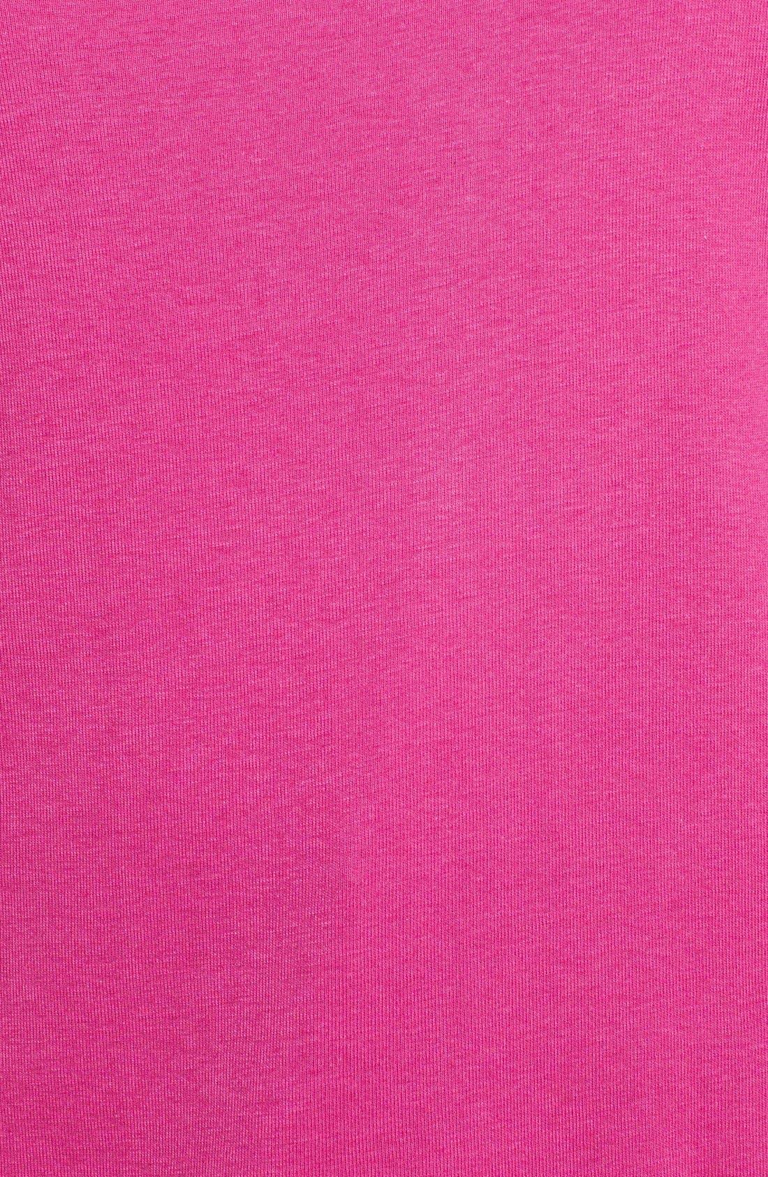 Alternate Image 3  - Sejour Short Sleeve Scoop Neck Tee (Plus Size)