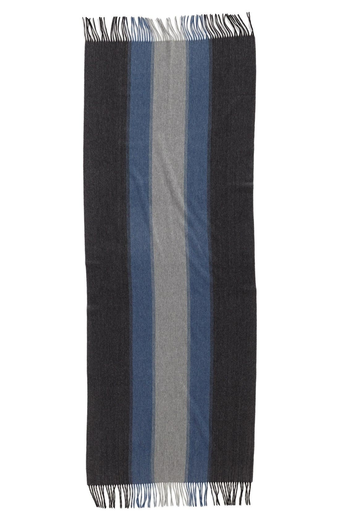 Alternate Image 2  - Nordstrom Collection Colorblock Cashmere Wrap