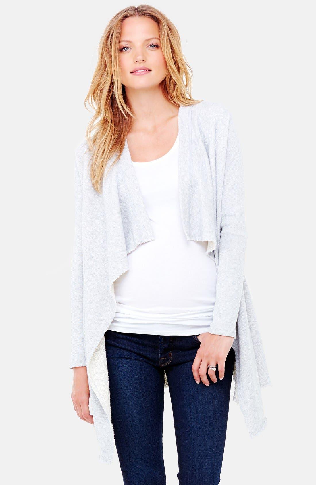 INGRID & ISABEL® Drape Front Maternity Cardigan