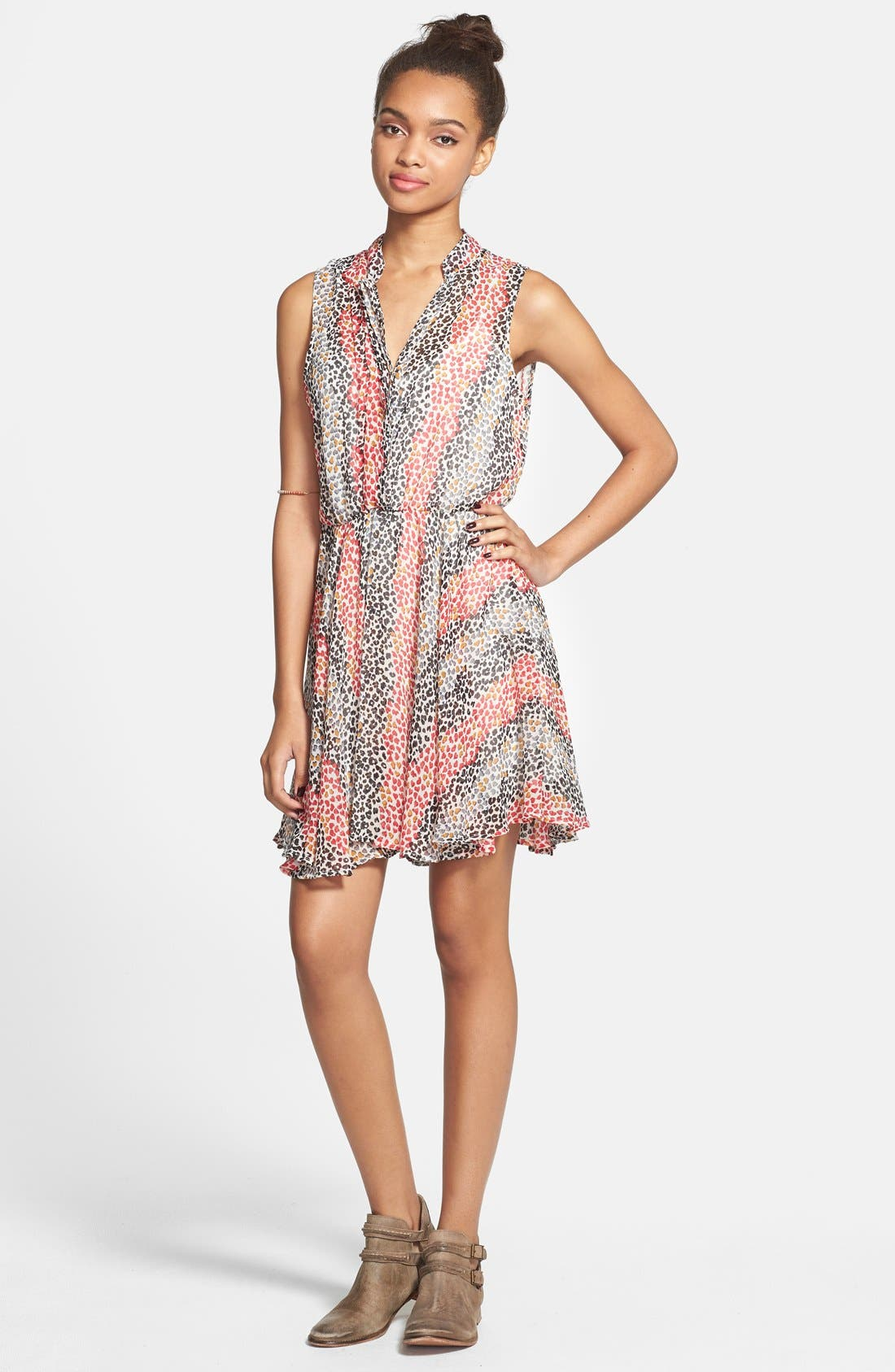 Alternate Image 3  - Mimi Chica Sleeveless Surplice Dress (Juniors)