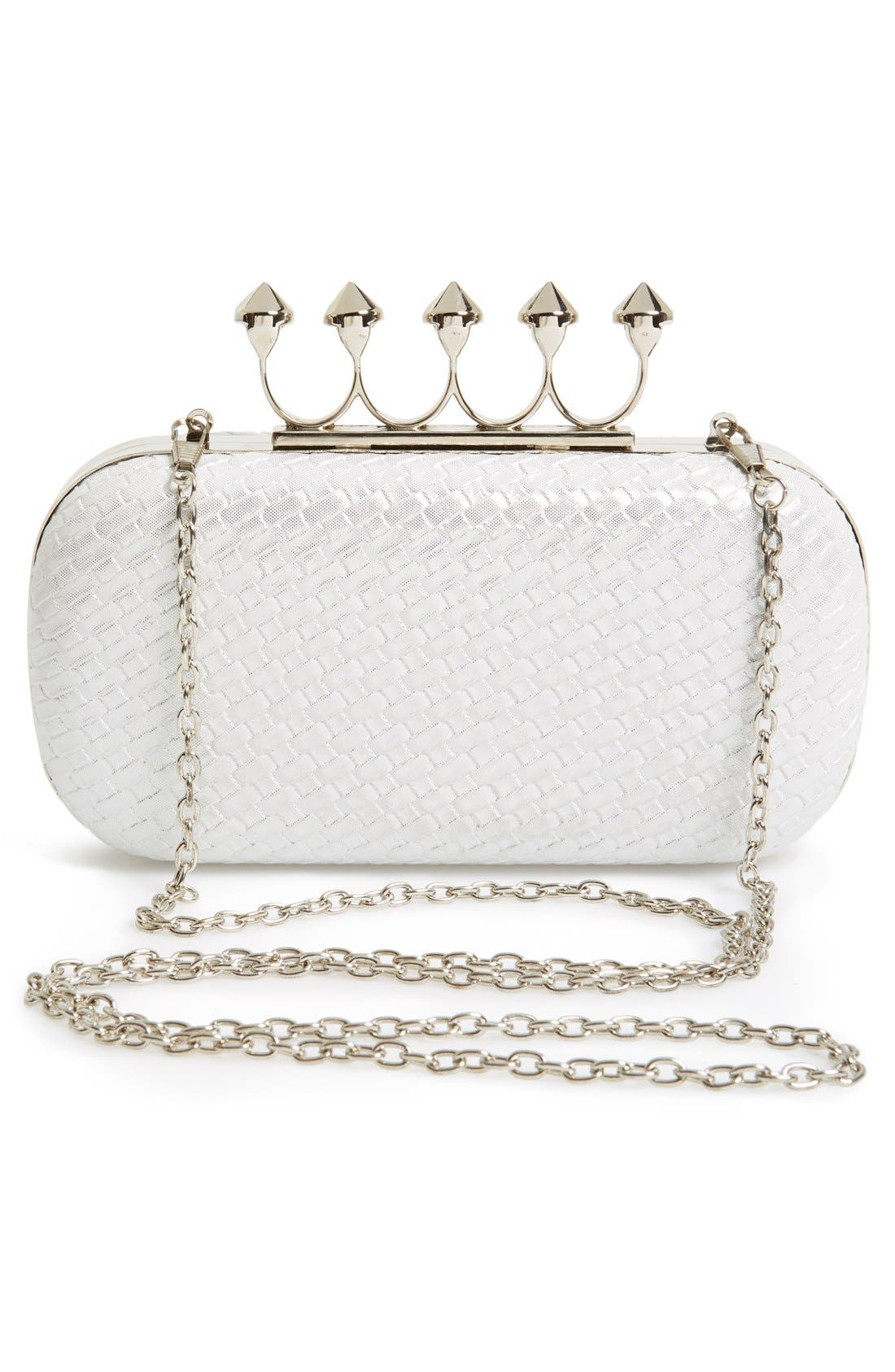 Alternate Image 4  - Natasha Couture Knuckle Clasp Minaudiere