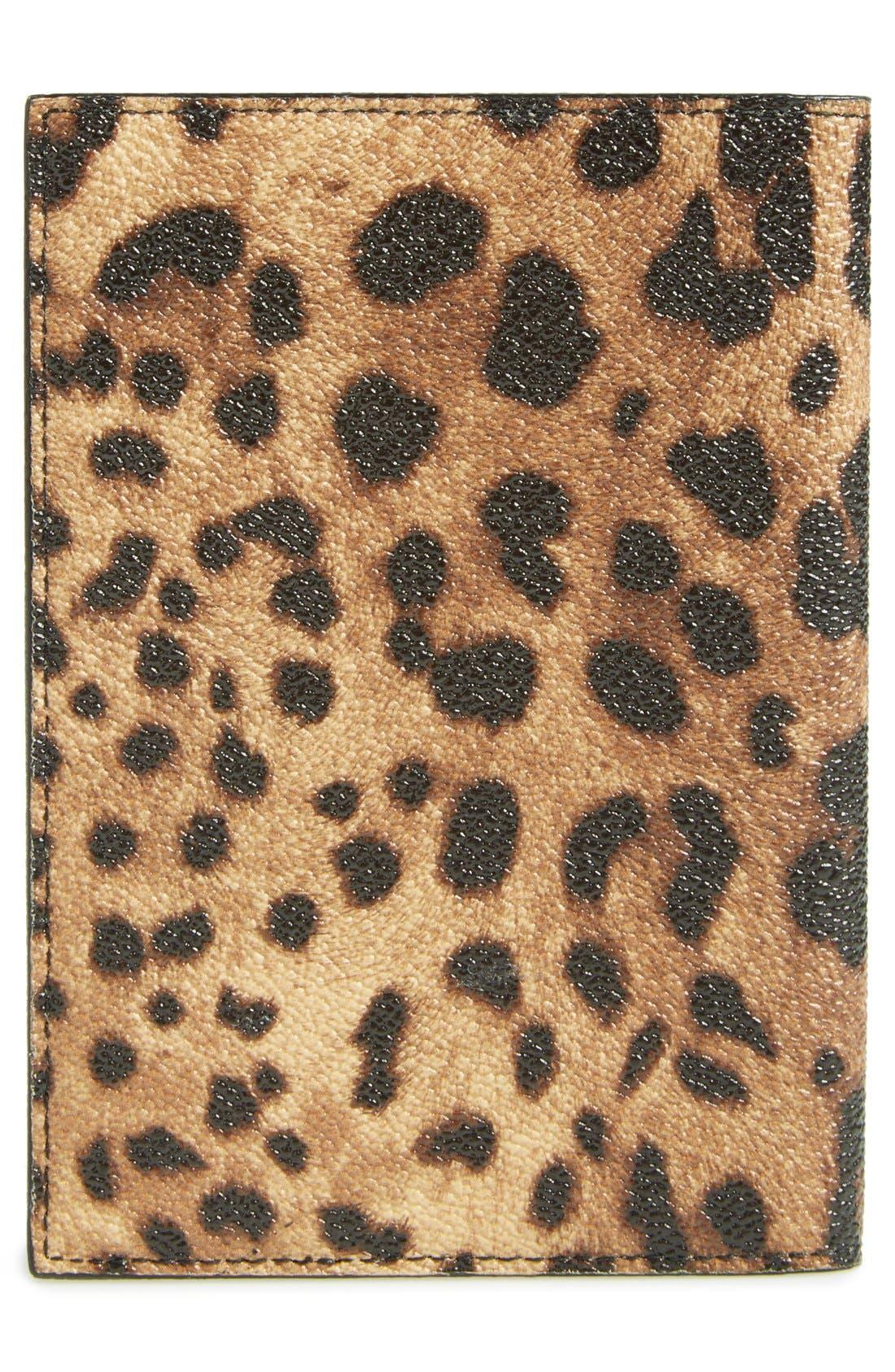 Alternate Image 3  - Dolce&Gabbana Leopard Print Passport Cover