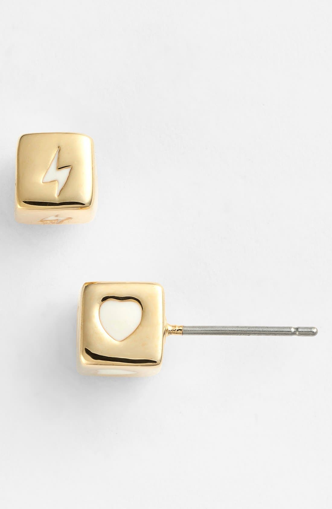 Alternate Image 1 Selected - MARC BY MARC JACOBS 'Bolt & Heart' Stud Earrings