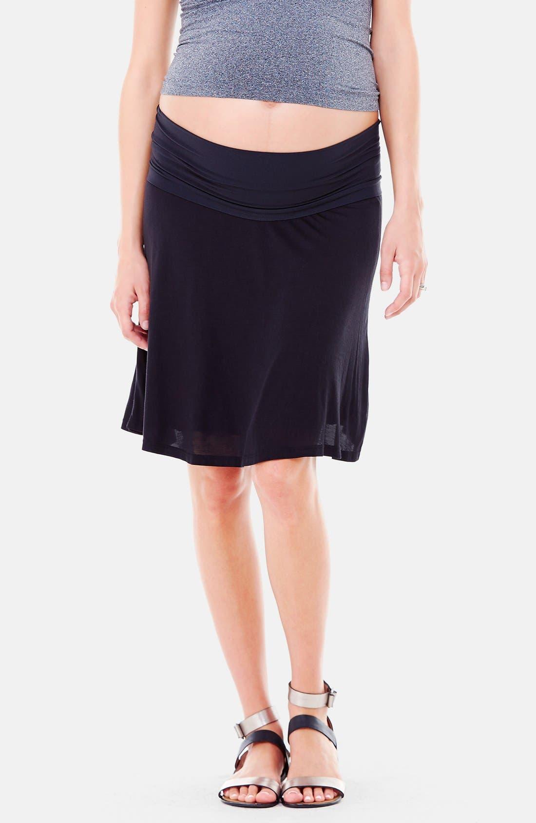 Alternate Image 3  - Ingrid & Isabel® 'Flowy' Maternity Skirt