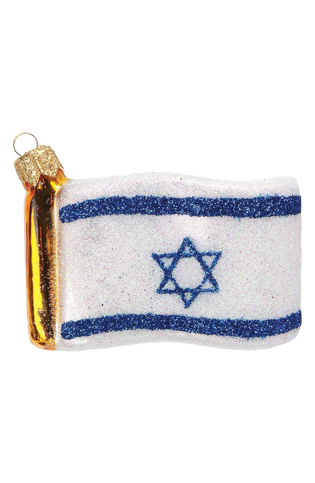 Alternate Image 1 Selected - Nordstrom at Home Handblown Israeli Flag Decoration