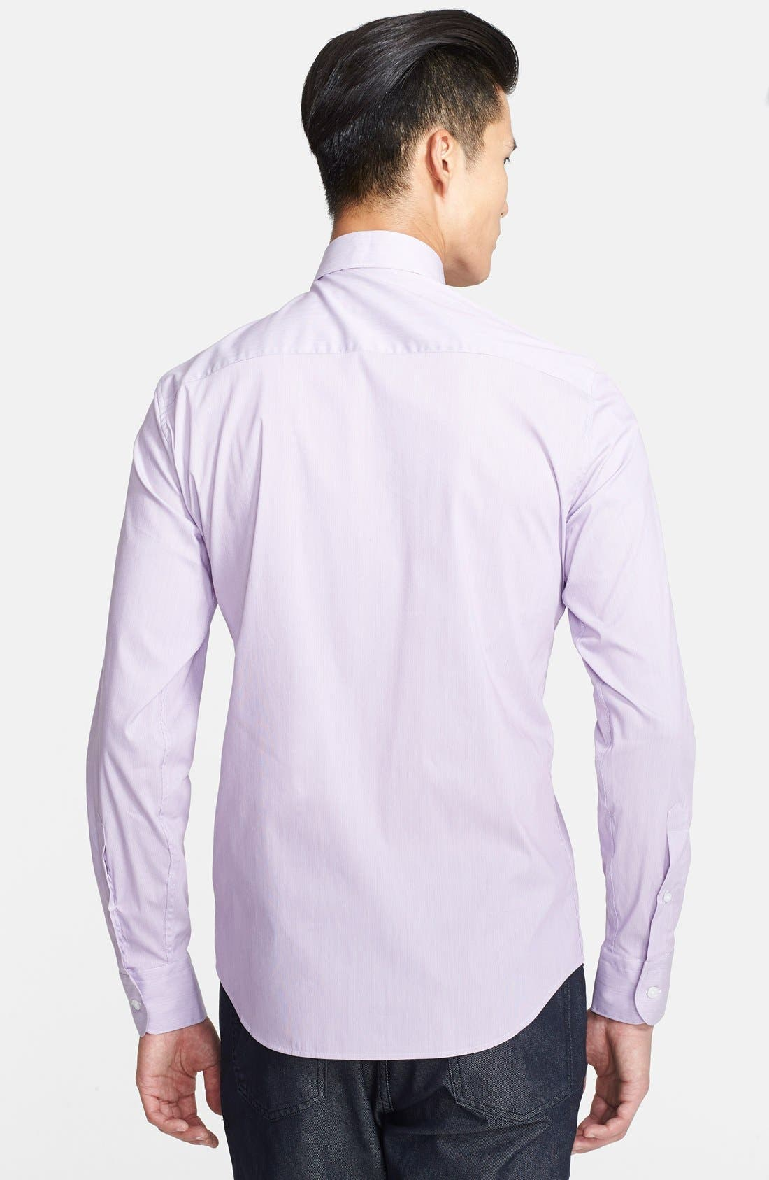 Alternate Image 2  - Z Zegna Extra Trim Fit Stripe Dress Shirt