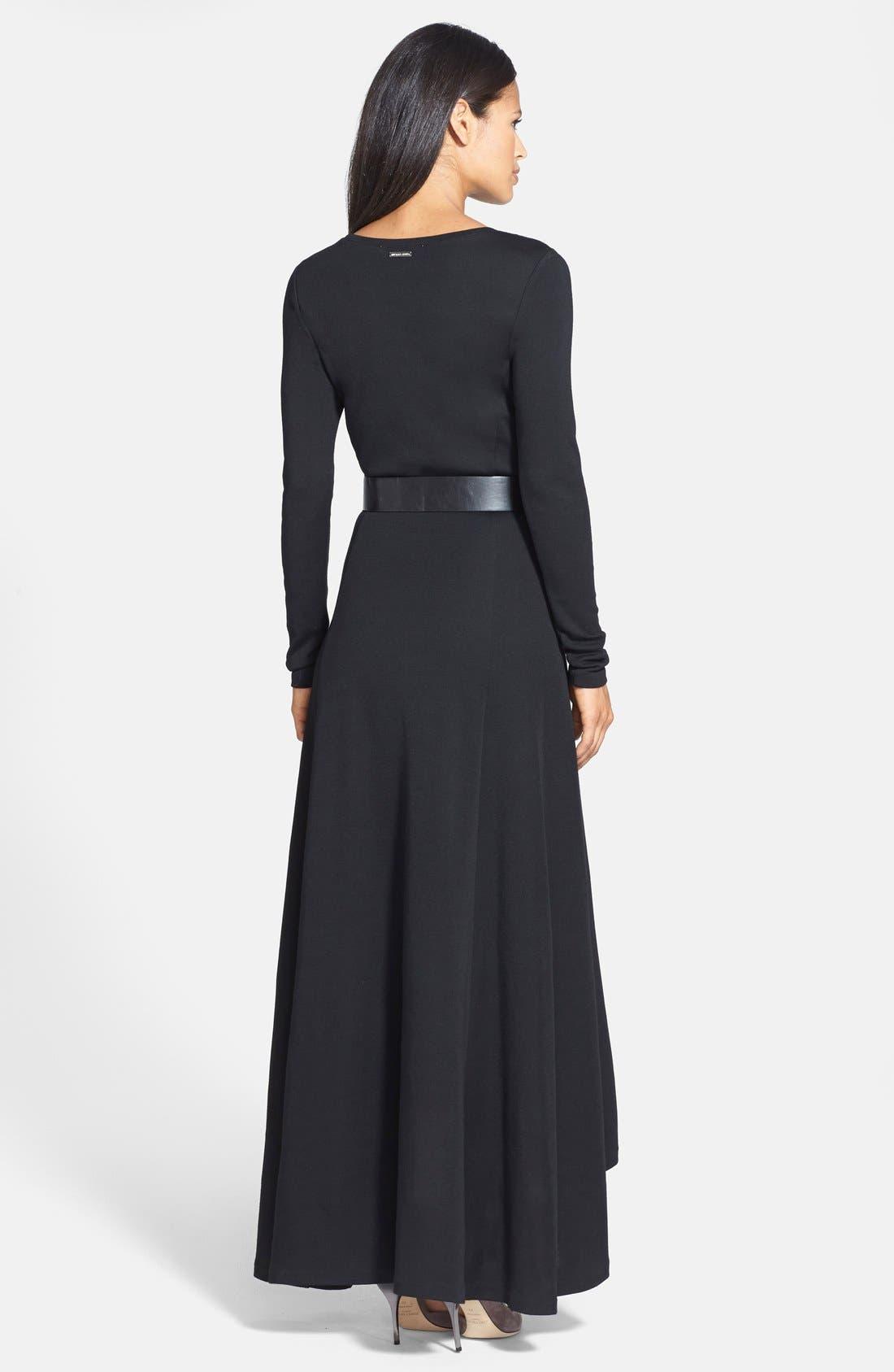 Alternate Image 2  - MICHAEL Michael Kors Belted High/Low Maxi Dress