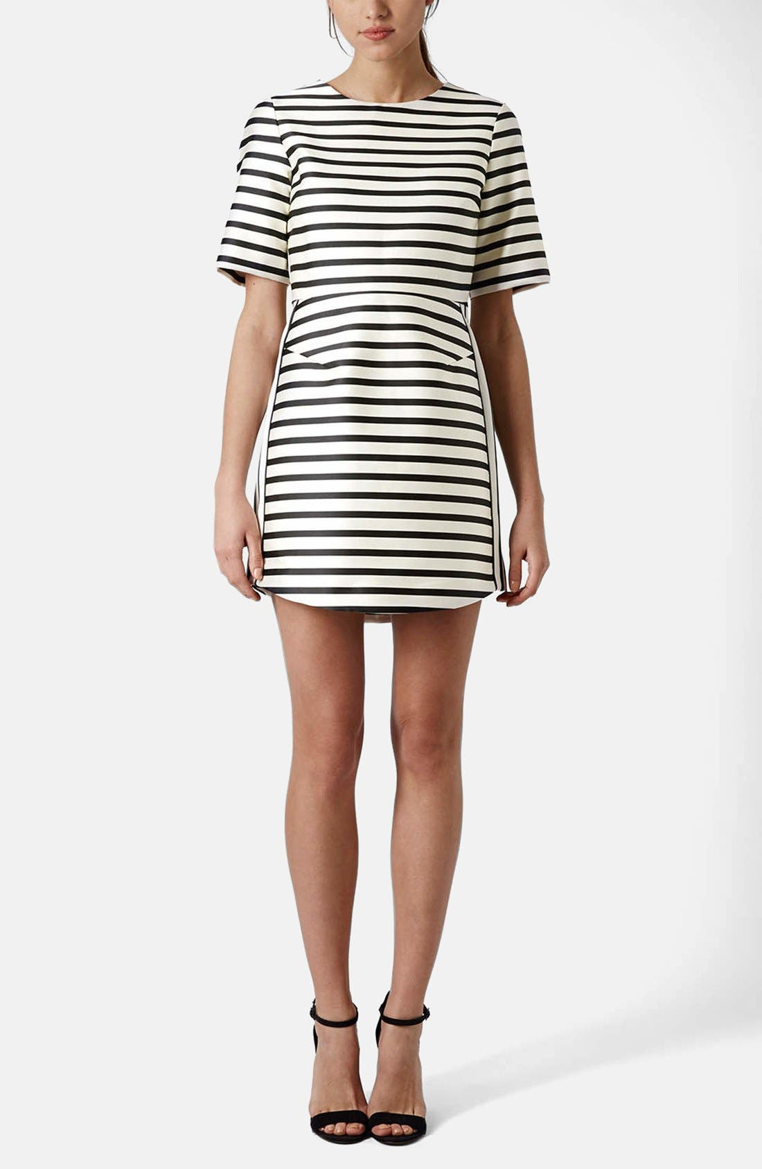 Alternate Image 5  - Topshop Stripe A-Line Dress