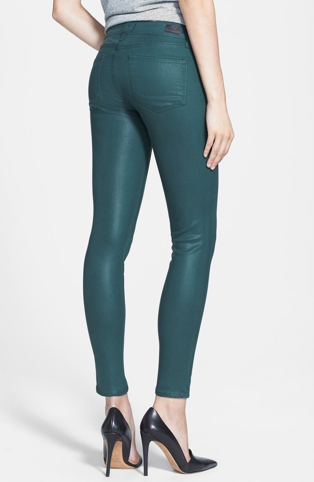 Alternate Image 2  - Paige Denim 'Verdugo' Coated Ultra Skinny Ankle Jeans (Forest Silk)