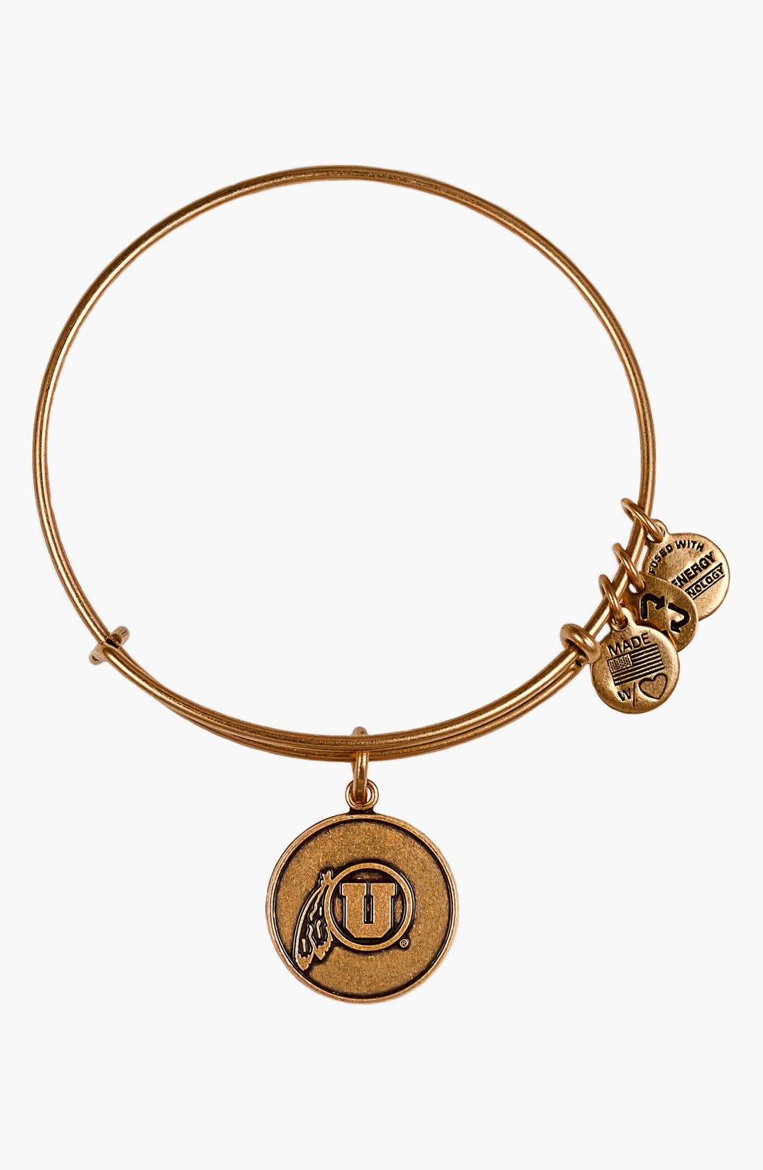 Alternate Image 1 Selected - Alex and Ani 'Collegiate - University of Utah' Expandable Charm Bracelet