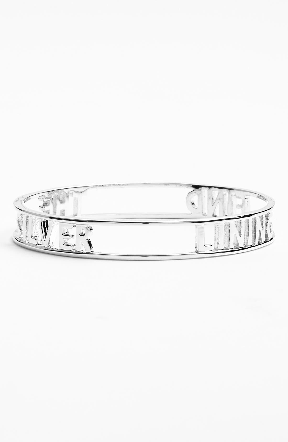 Alternate Image 2  - kate spade new york 'words of wisdom - find the silver lining' bangle