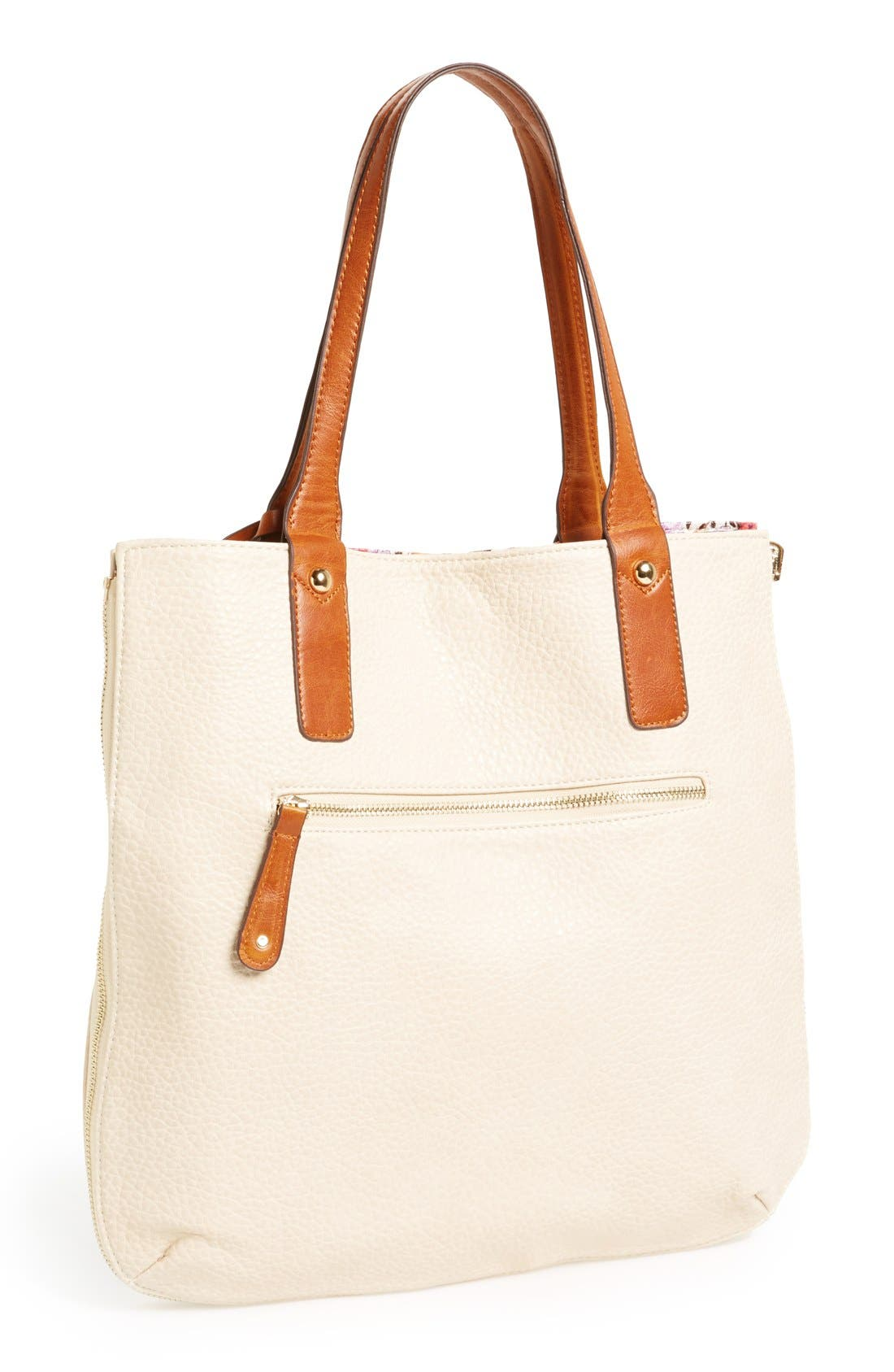 Main Image - Street Level Reversible Floral Tote