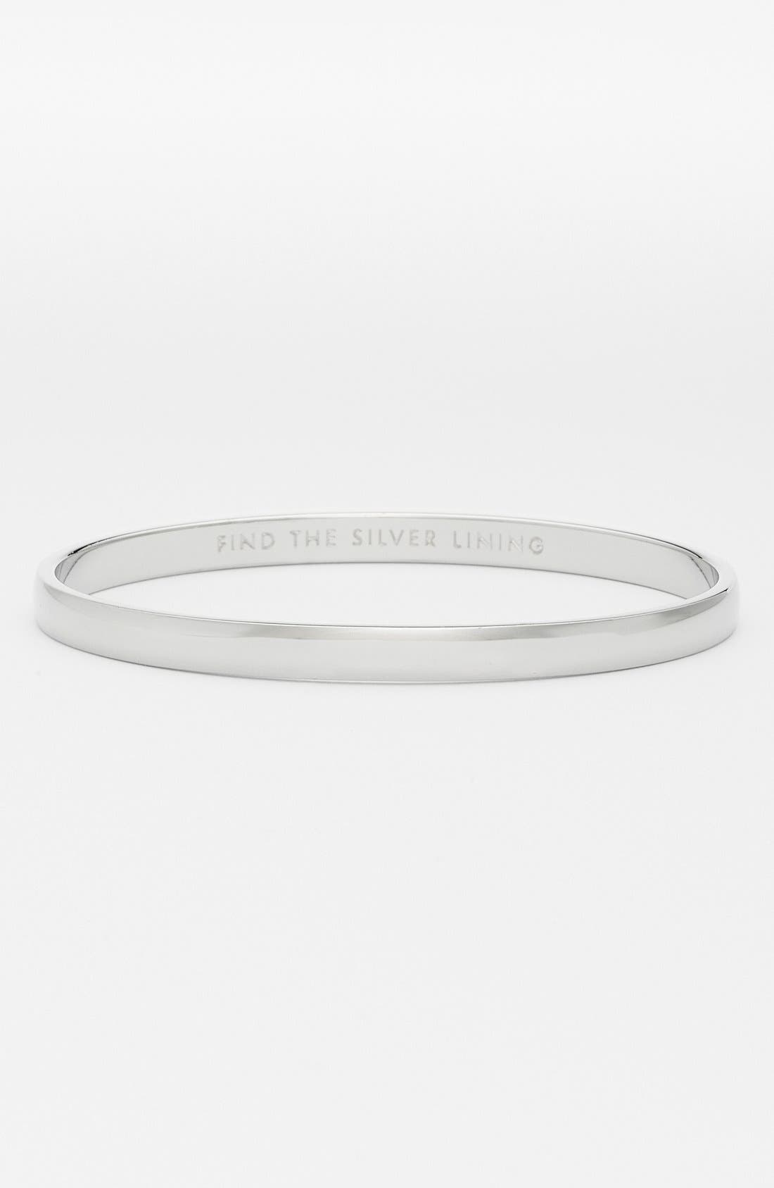 Alternate Image 1 Selected - kate spade new york 'idiom - find the silver lining' bangle