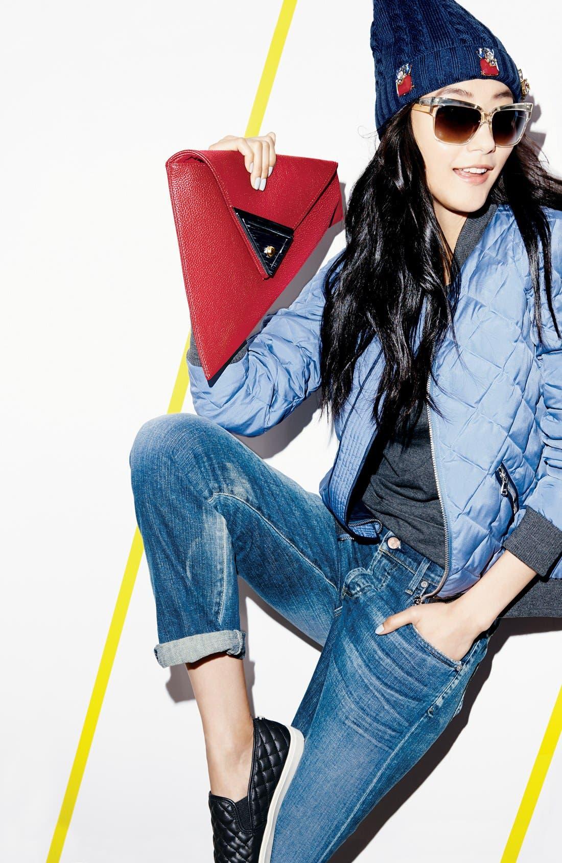 Alternate Image 5  - Sondra Roberts 'Modern Prep' Faux Leather Triangle Clutch