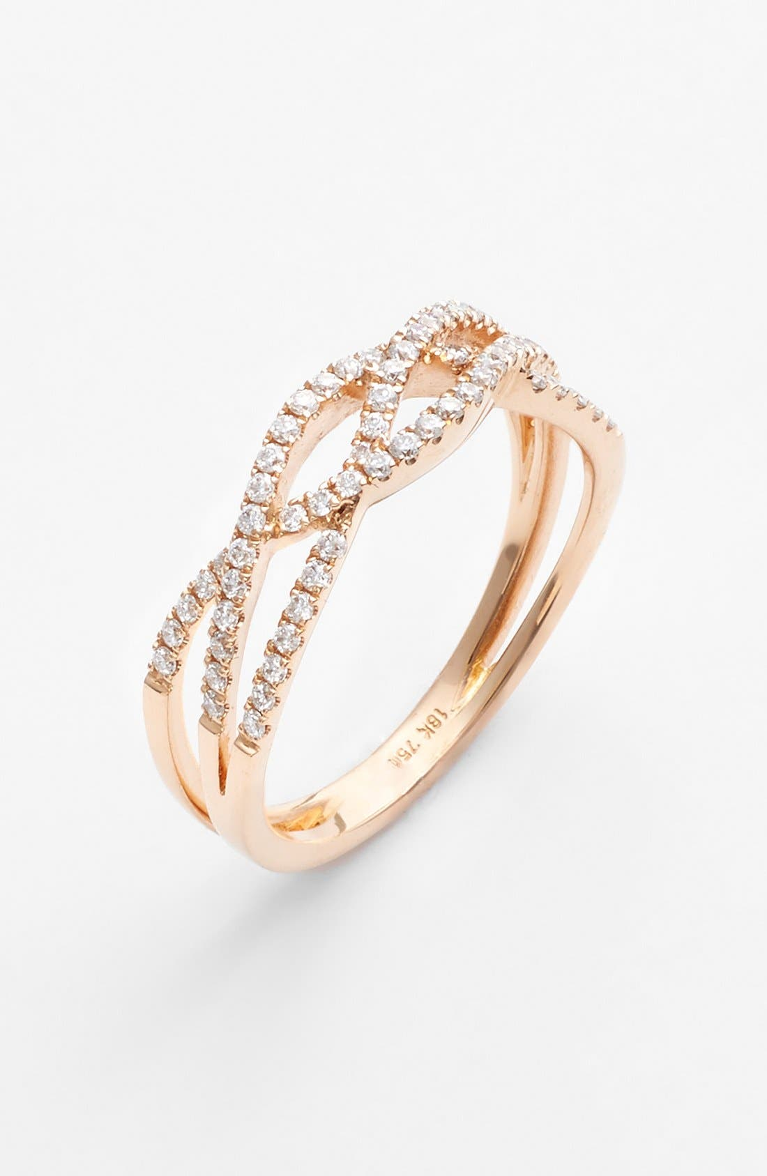Alternate Image 1 Selected - Bony Levy Braided Diamond Ring (Nordstrom Exclusive)
