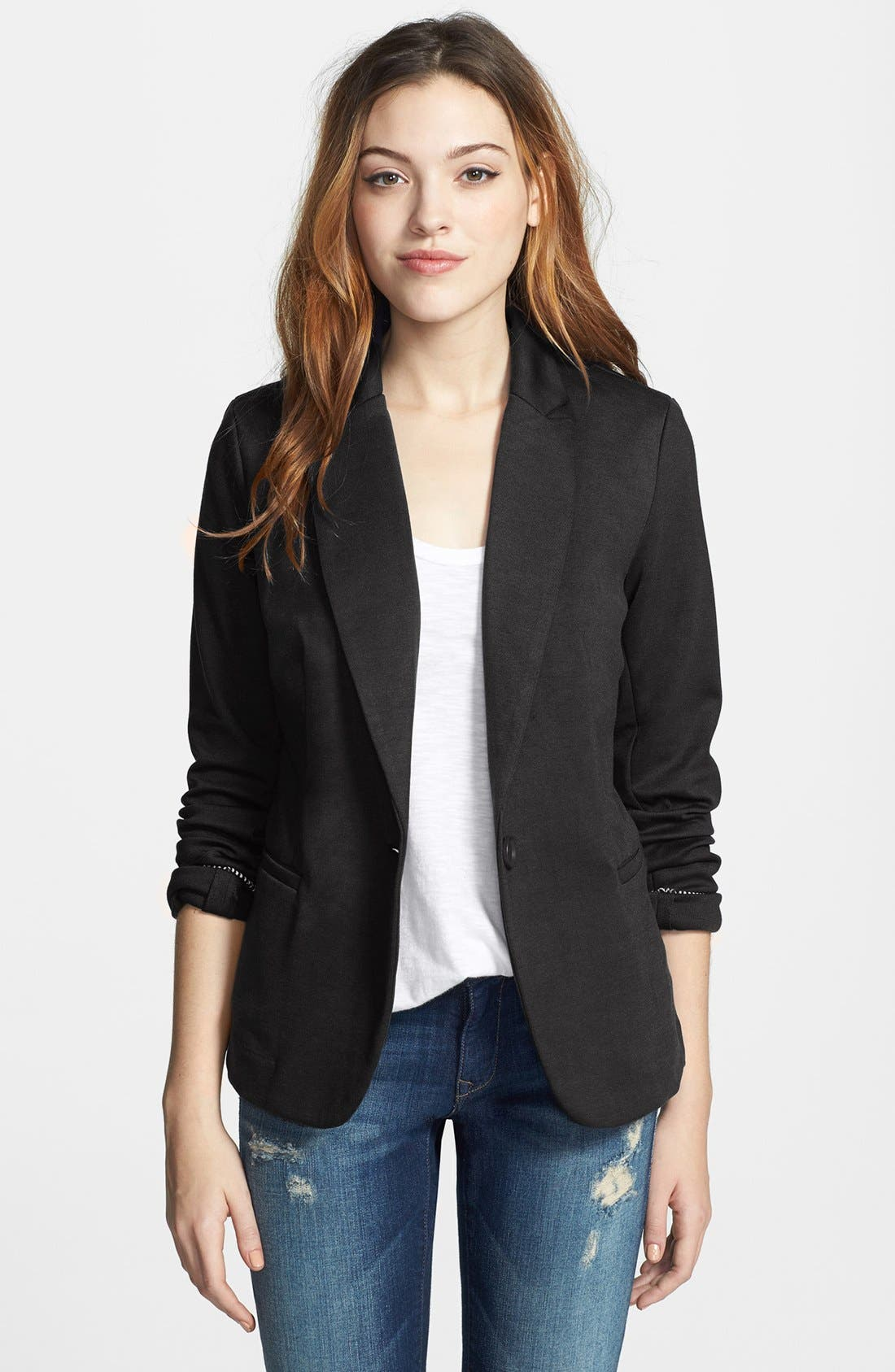 Main Image - Olivia Moon Knit Blazer (Regular & Petite)