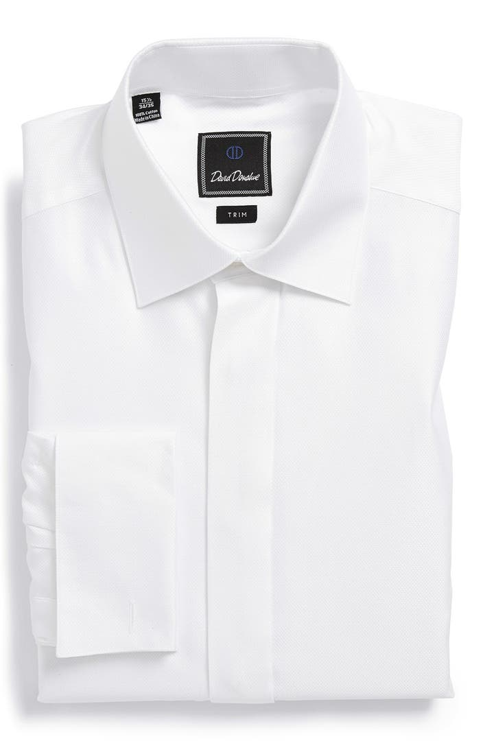 david donahue trim fit french cuff tuxedo shirt nordstrom