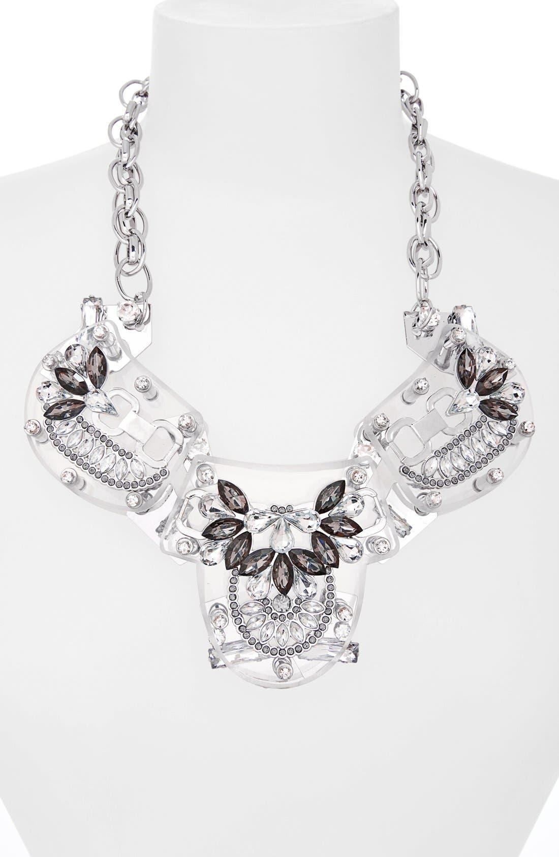Alternate Image 2  - Adia Kibur Crystal & Stone Flower Necklace