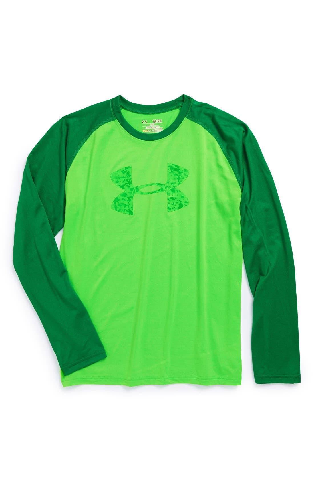 Alternate Image 1 Selected - Under Armour HeatGear® Long Sleeve T-Shirt (Big Boys)