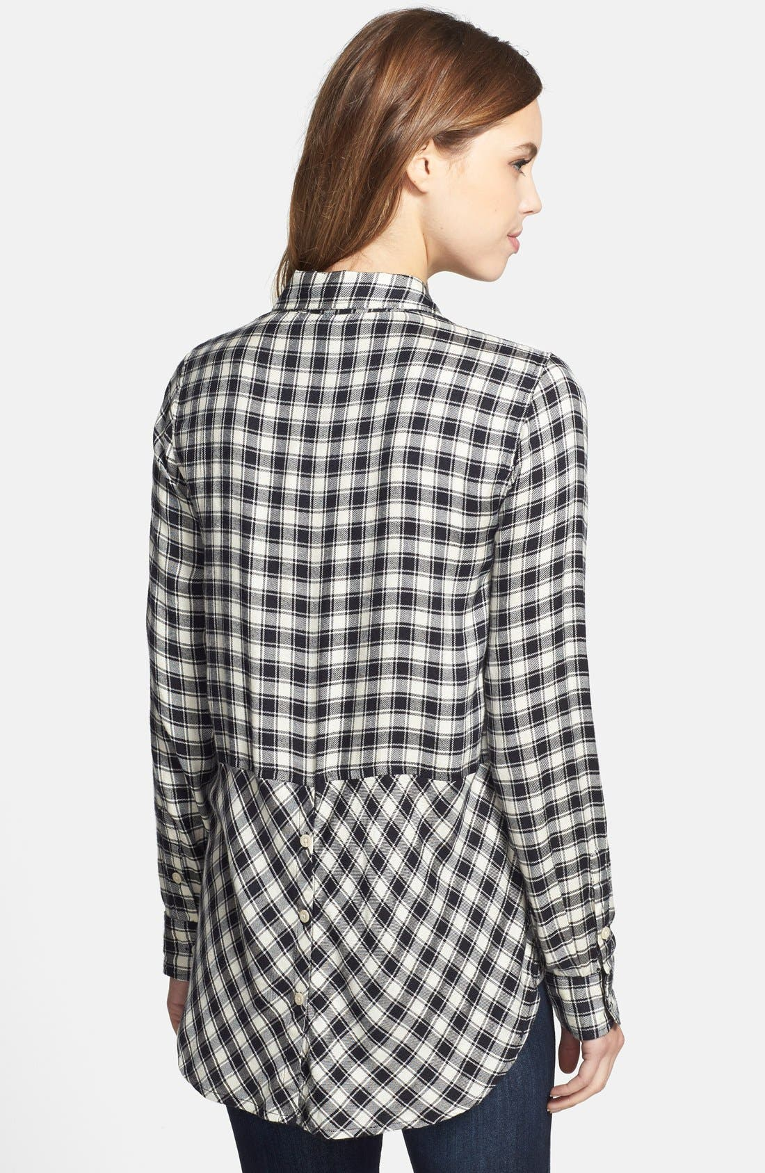 Alternate Image 2  - Lucky Brand Plaid Flannel Boyfriend Shirt