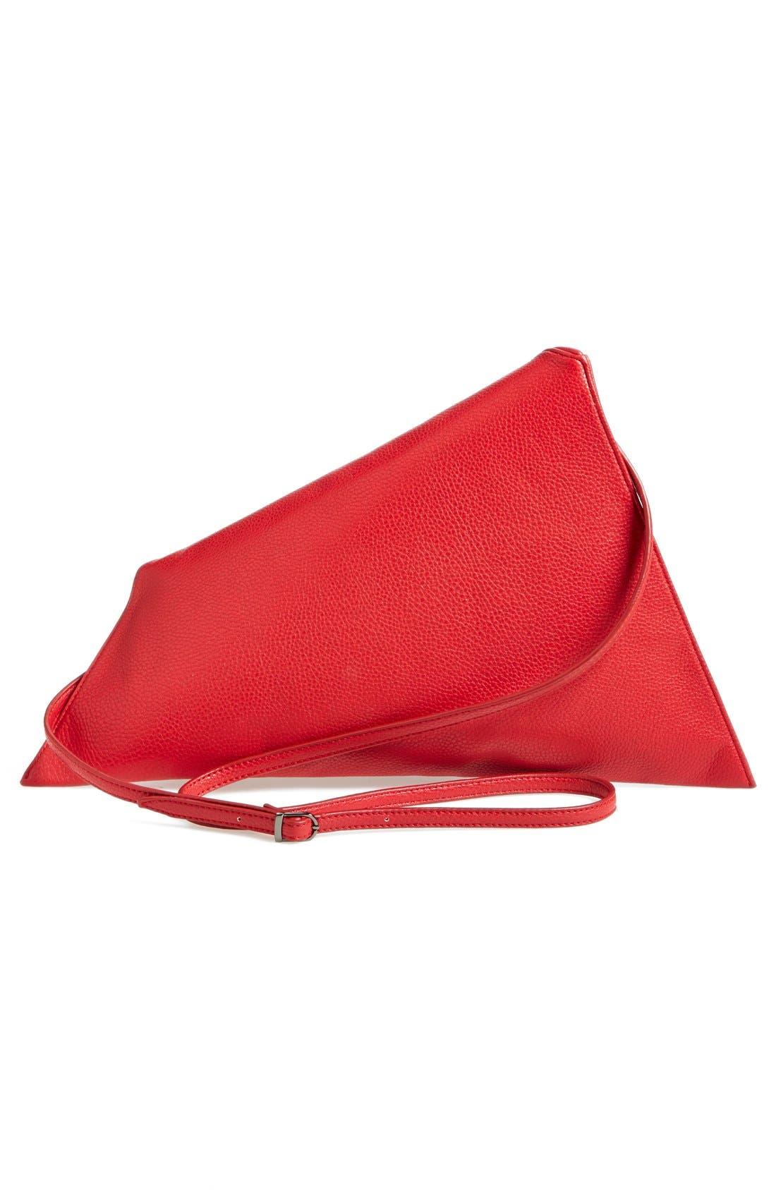 Alternate Image 4  - Sondra Roberts 'Modern Prep' Faux Leather Triangle Clutch