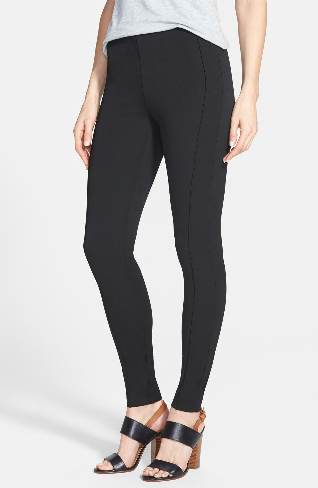 Alternate Image 1 Selected - Vince Camuto Side Zip Skinny Pants (Regular & Petite)