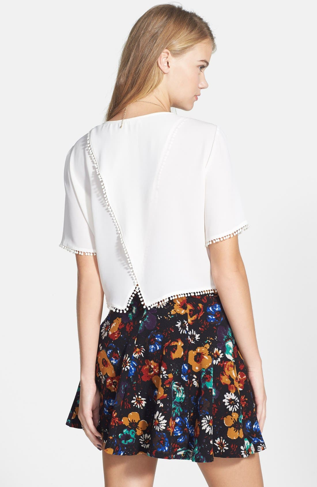 Alternate Image 2  - Lush Textured Skater Skirt