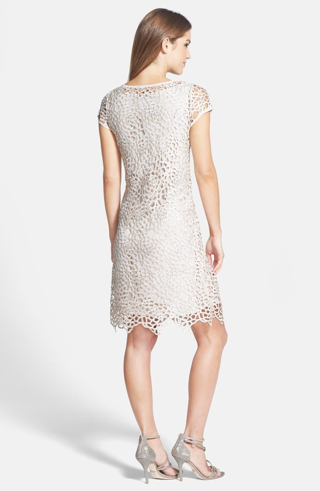 Alternate Image 2  - Marina Lattice Lace Shift Dress