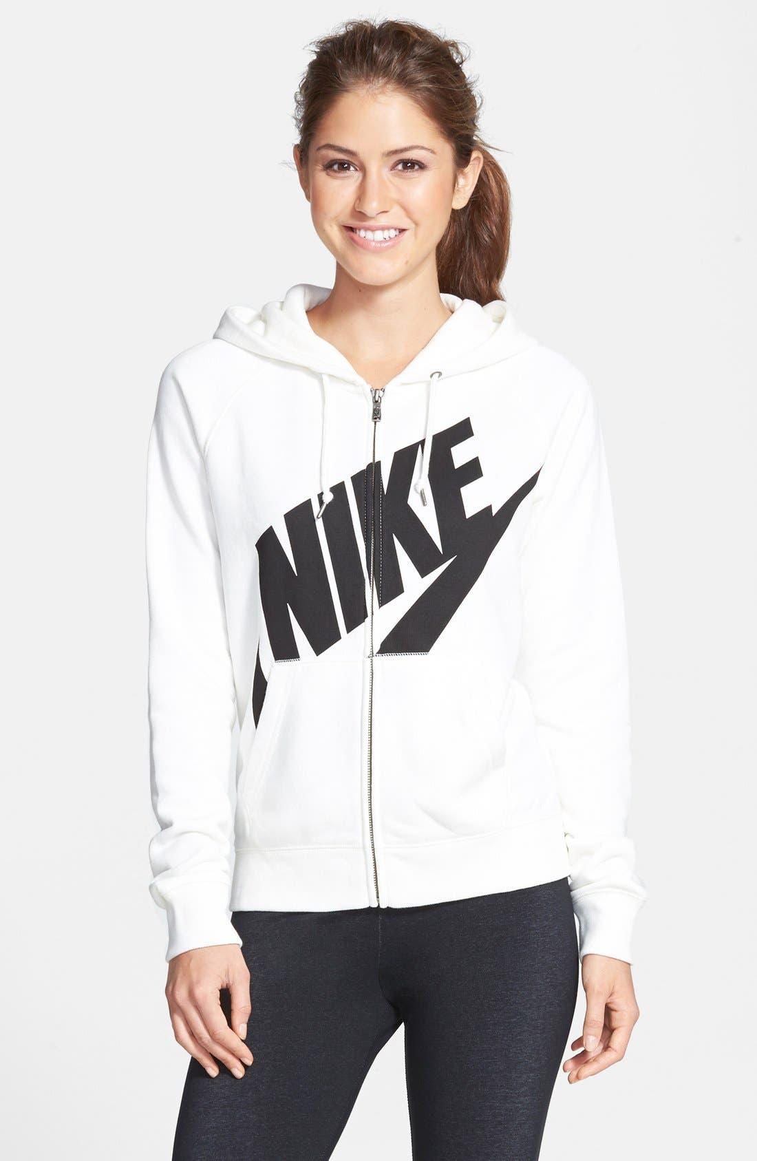 Alternate Image 1 Selected - Nike 'Rally' Full Zip Hoodie