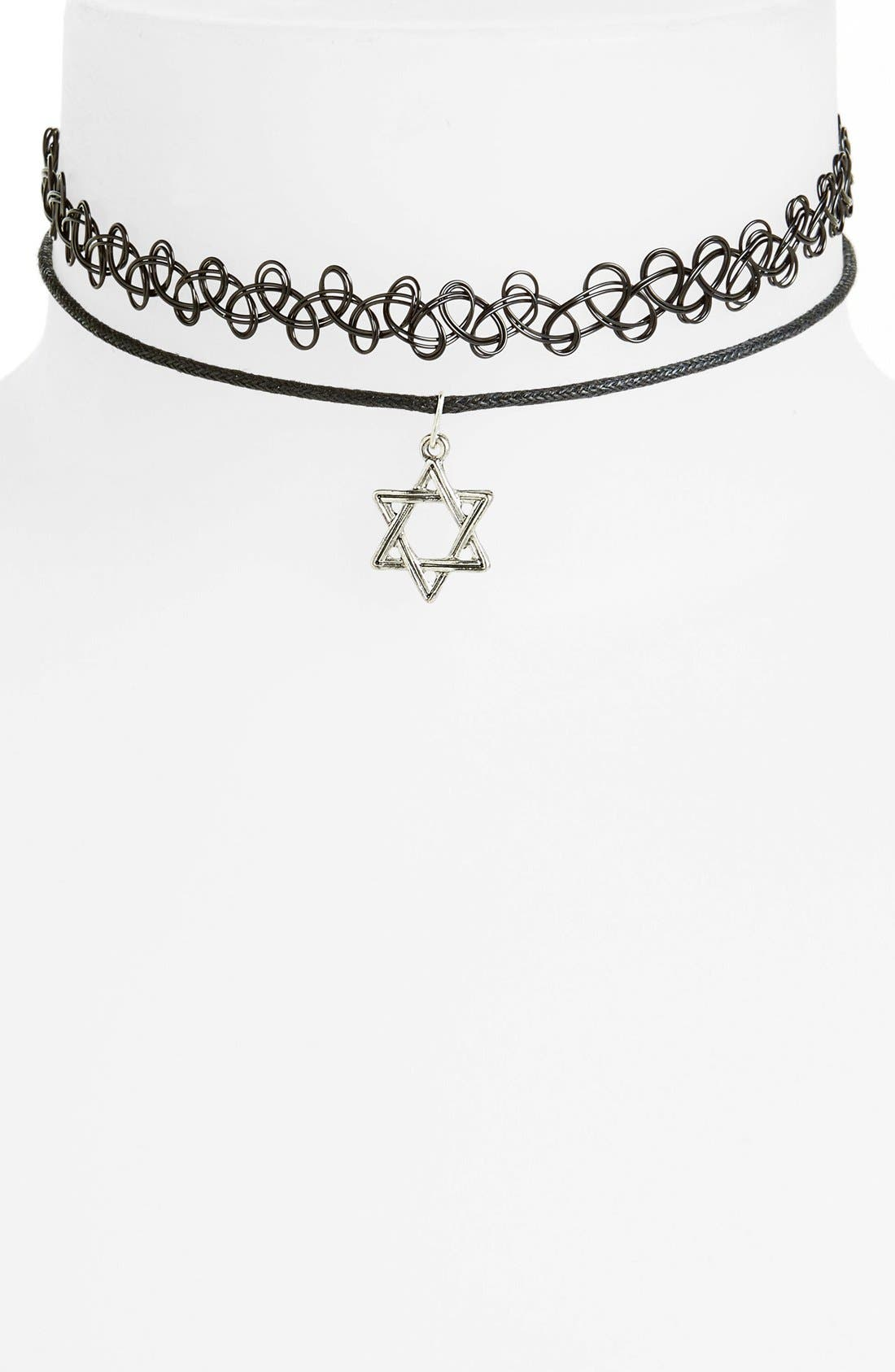 Alternate Image 1 Selected - Topshop Choker Necklaces (Set of 2)