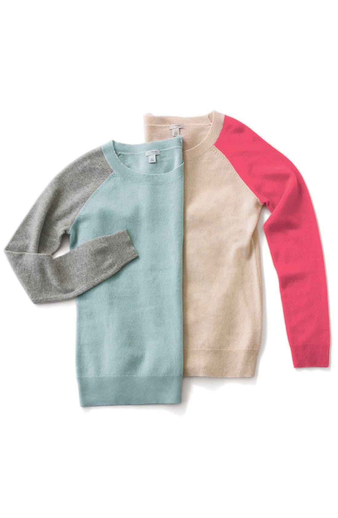 Alternate Image 6  - Halogen® Cashmere Crewneck Sweater (Regular & Petite)