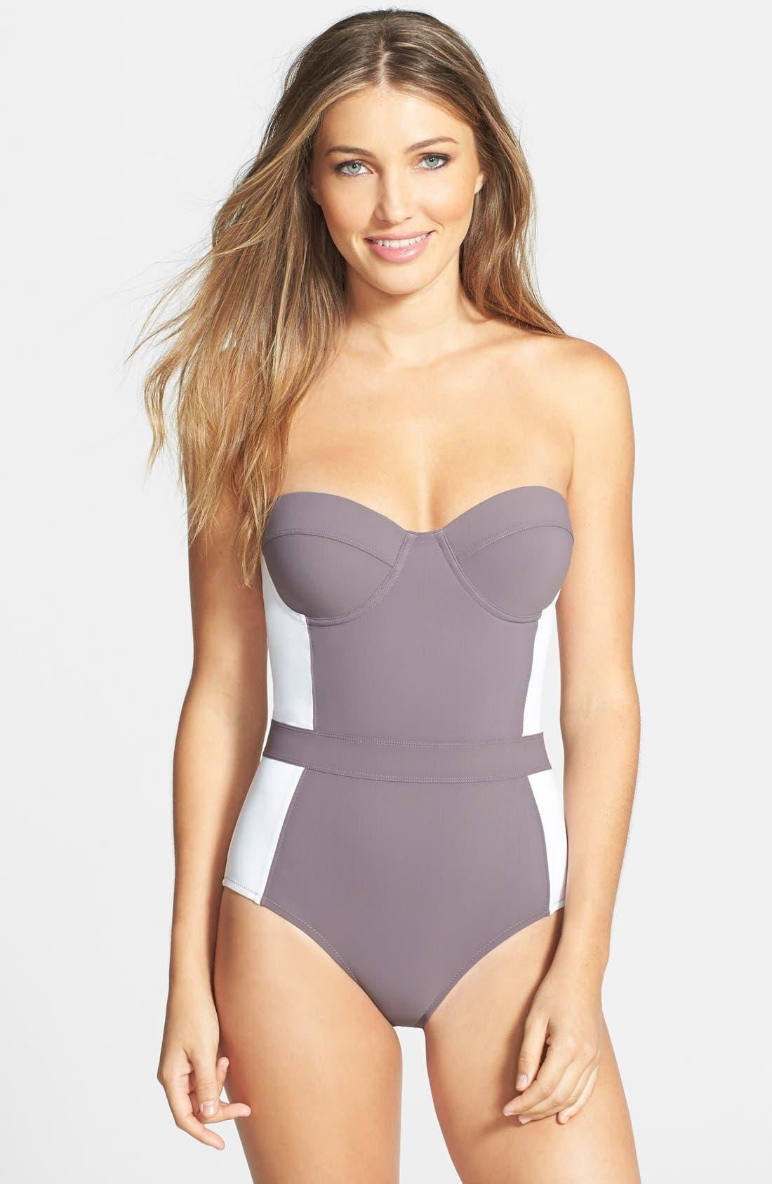 Alternate Image 1 Selected - Tory Burch 'Lipsi' Colorblock One-Piece Swimsuit